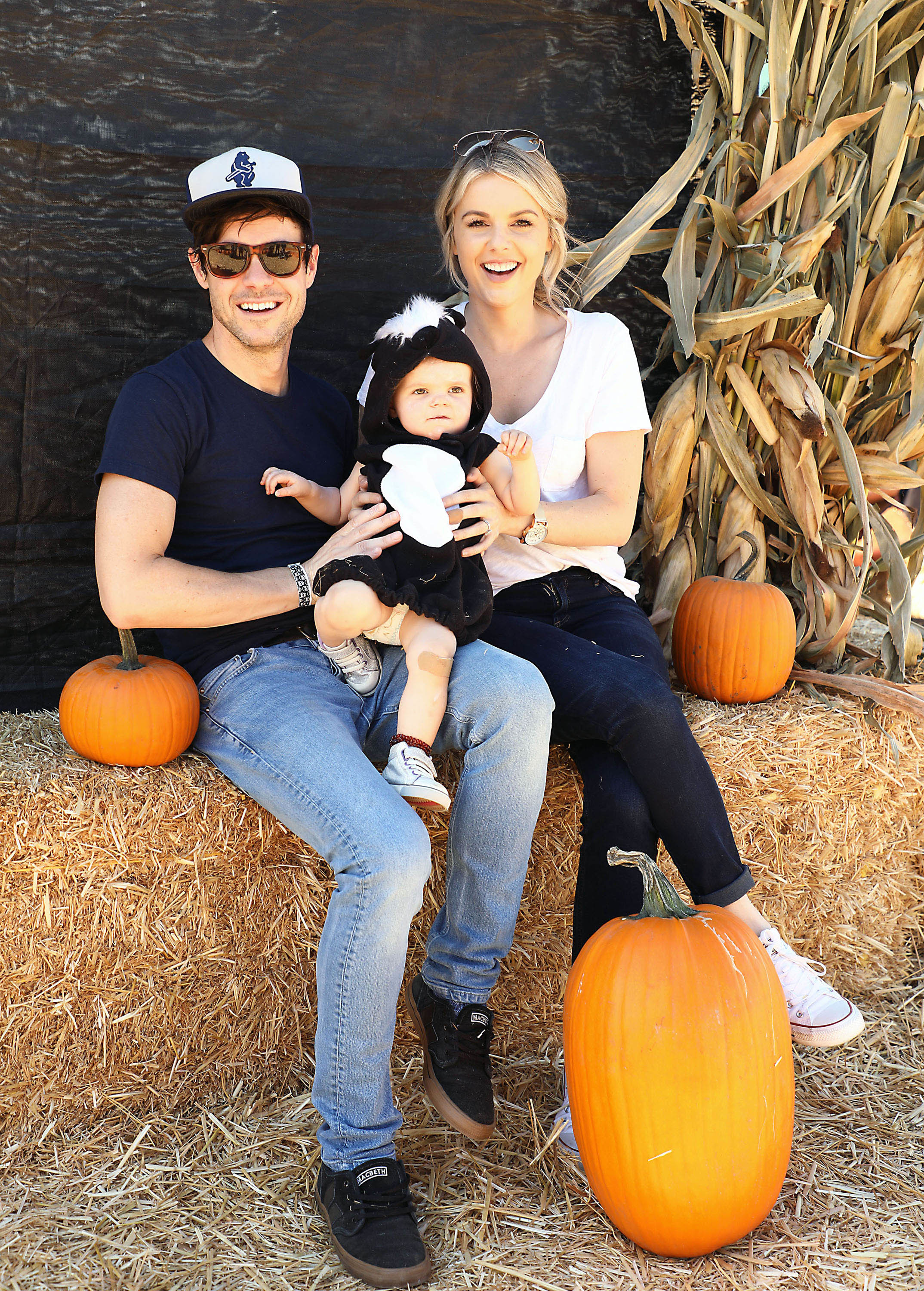 Ali Fedotowsky, Kevin Manno, Molly Manno visited the Mr. Bones Pumpkin Patch in Culver City, California on Oct. 7, 2017.