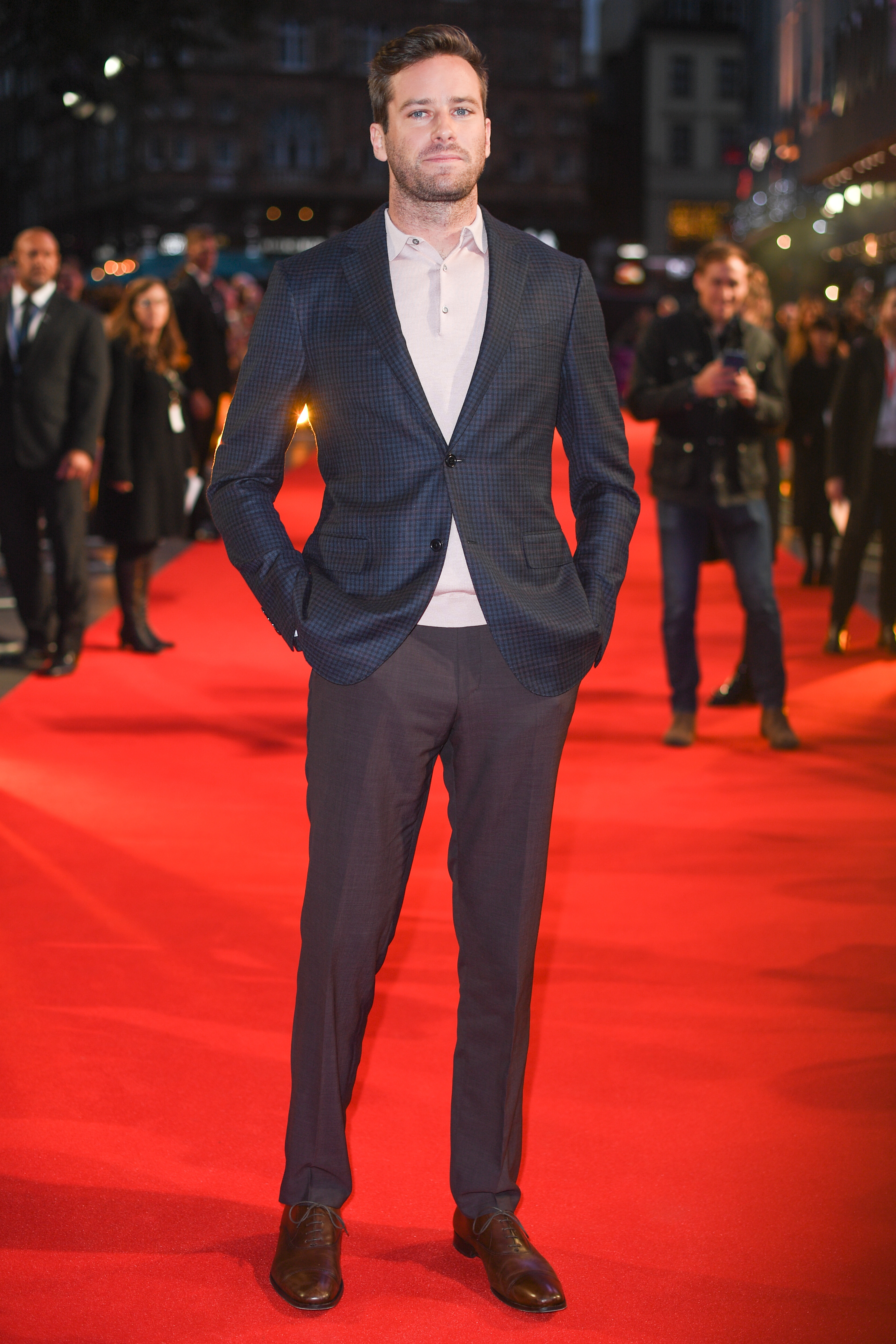 """Armie Hammer attends the BFI London Film Festival premiere of """"Call Me By Your Name"""" on Oct. 9, 2017."""