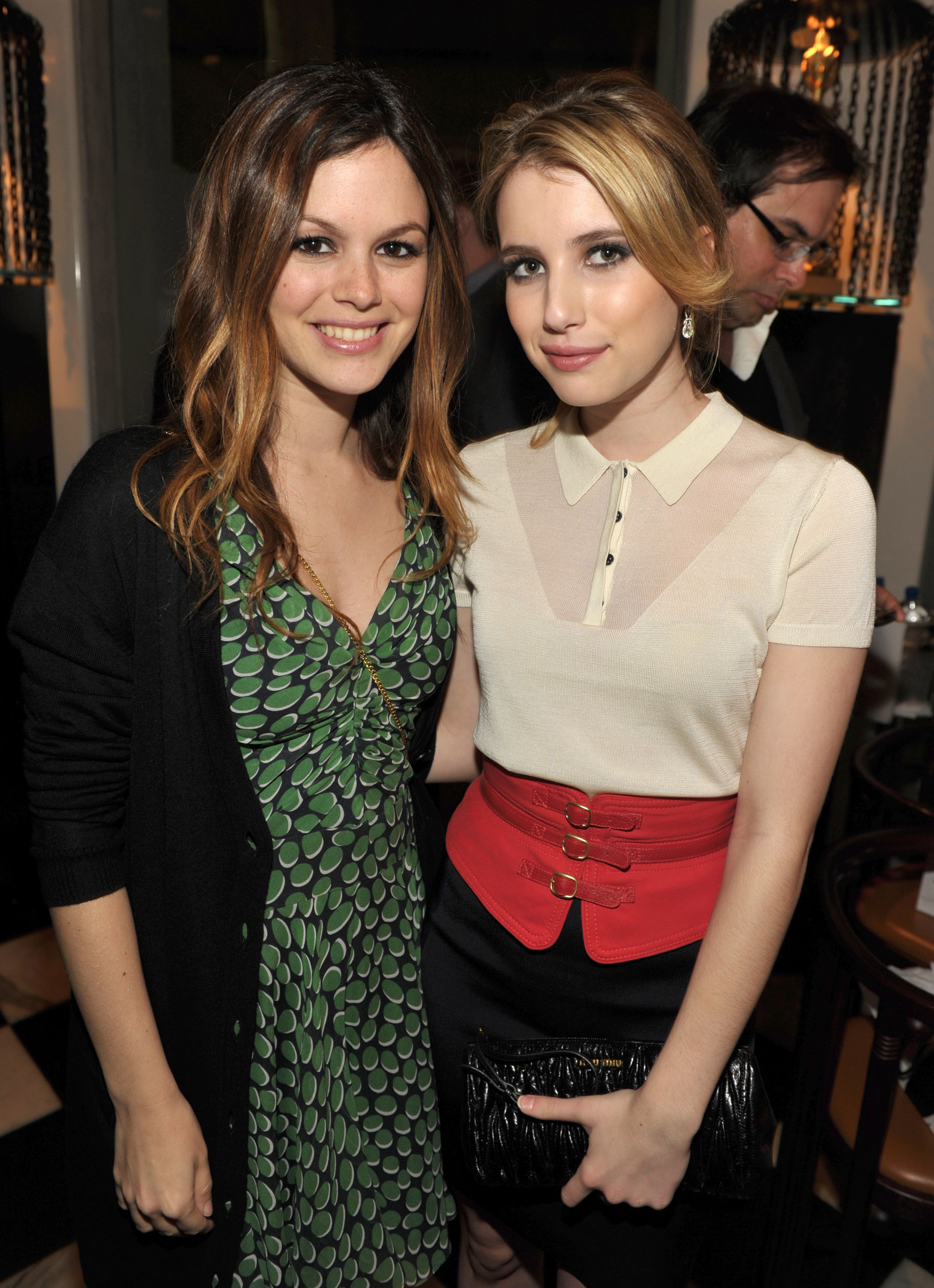 Rachel Bilson and Emma Roberts at the launch of Z SPOKE by Zac Posen hosted by Saks Fifth Avenue at Mr Chow in Beverly Hills on Feb. 27, 2010