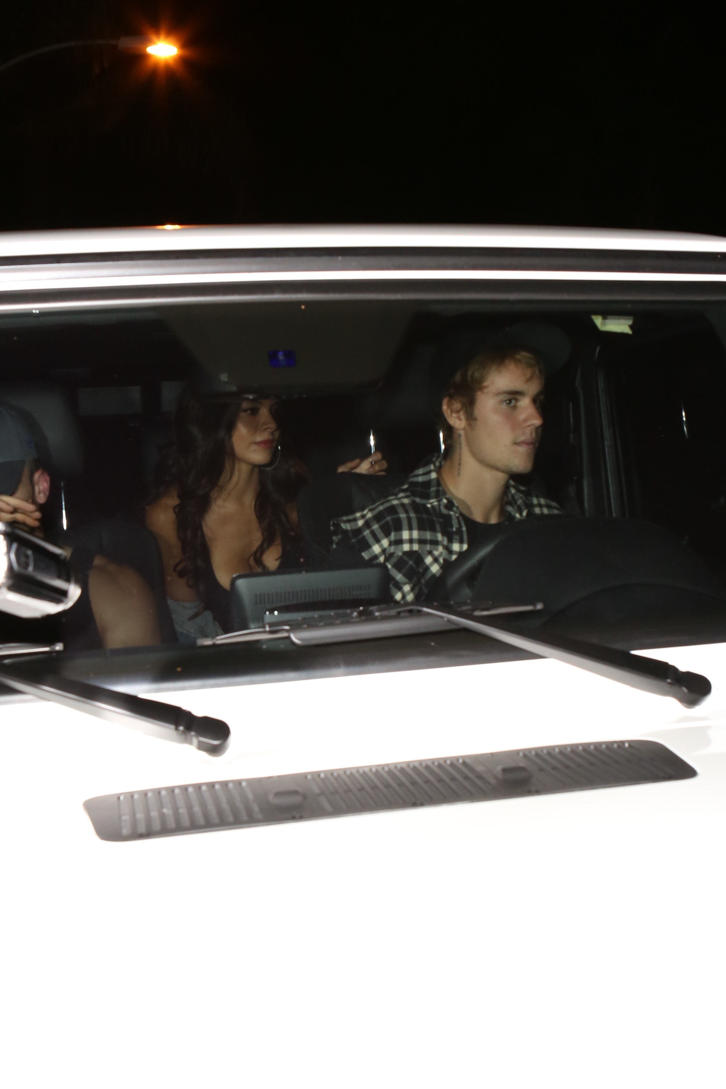 Justin Bieber and new girlfriend Paola Paulin attend church in Los Angeles, California on Oct. 2, 2017.