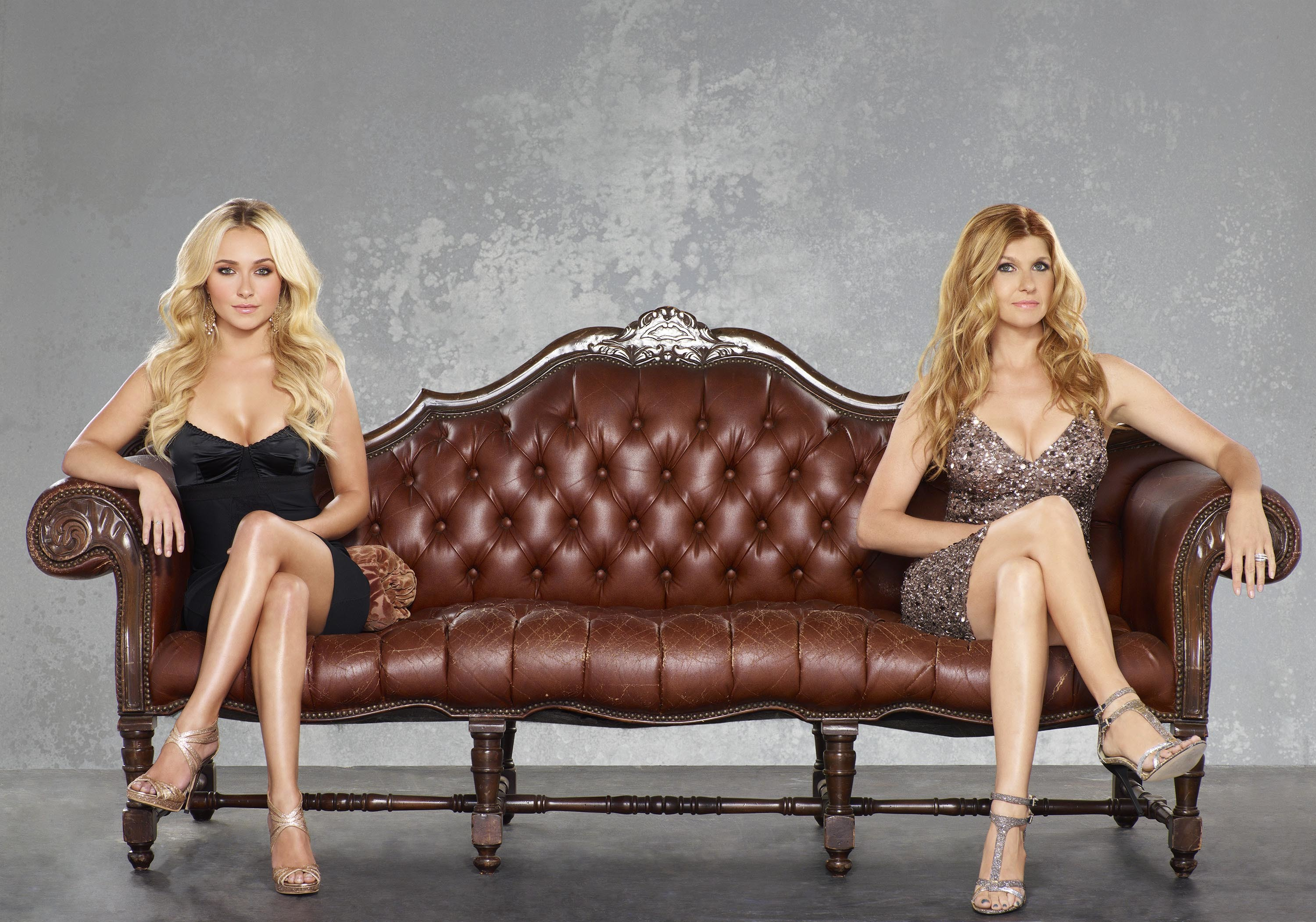 """Hayden Panettiere and Connie Britton appear in a promotional photo for ABC's """"Nashville"""" in 2012."""