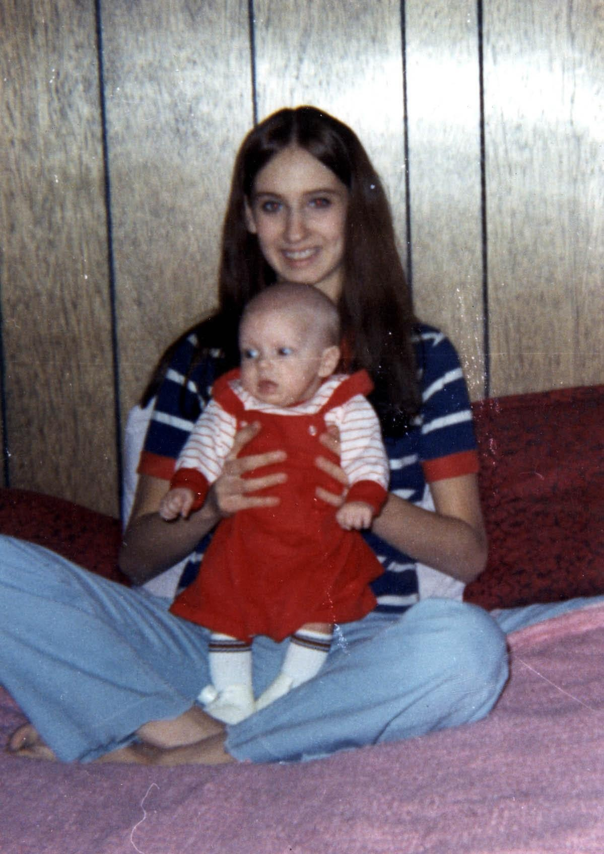 Rapper Eminem before he was famous as a baby with his mother Deborah Mathers circa 1972.