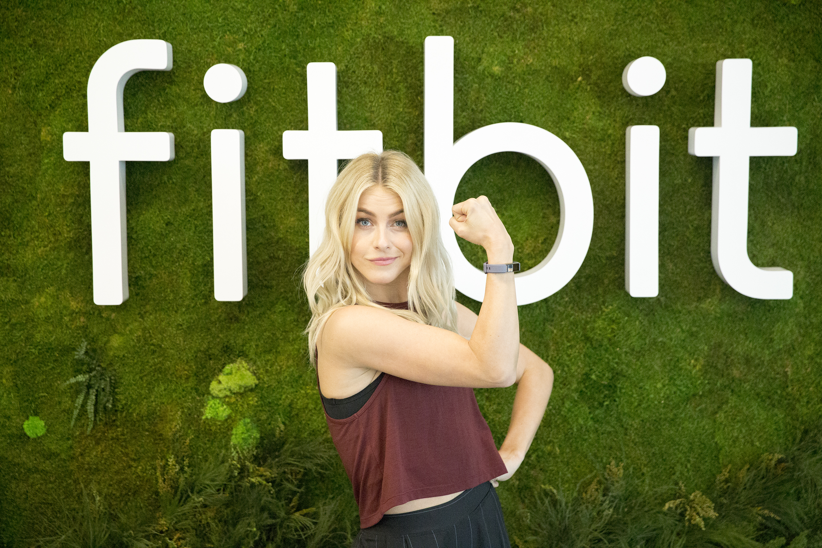 Julianne Hough visits Fitbit HQ in San Francisco on Oct. 9, 2017.