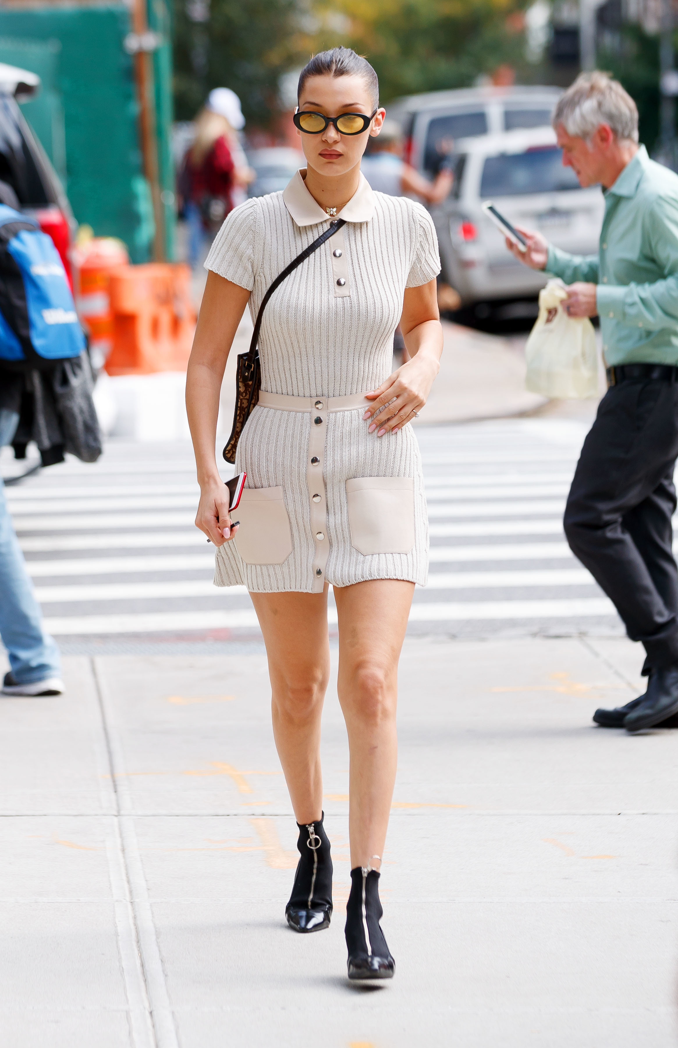 Bella Hadid steps out in New York City on Oct. 11, 2017.