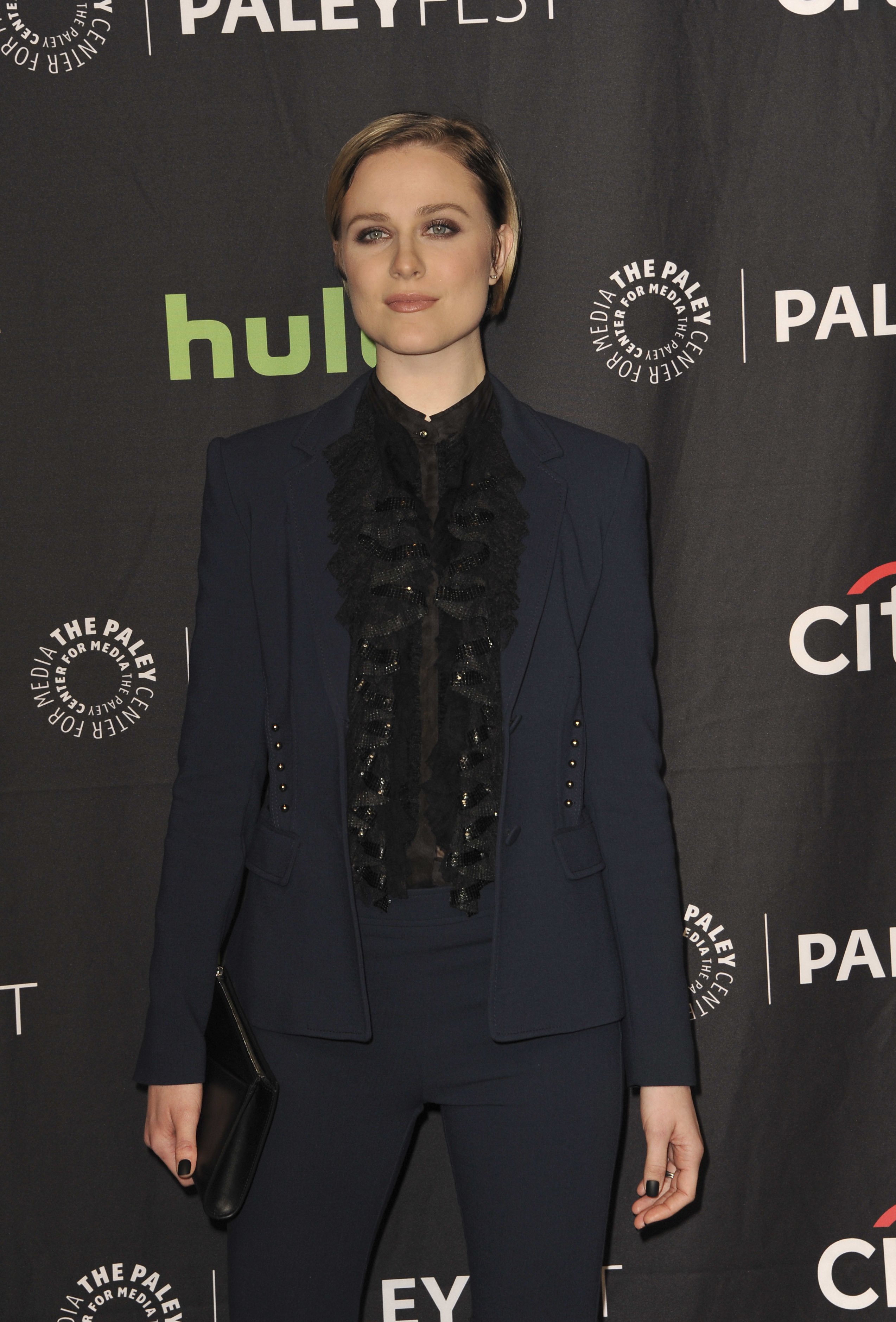 Evan Rachel Wood attends the 34th Annual PaleyFest in Los Angeles on March 25, 2017.