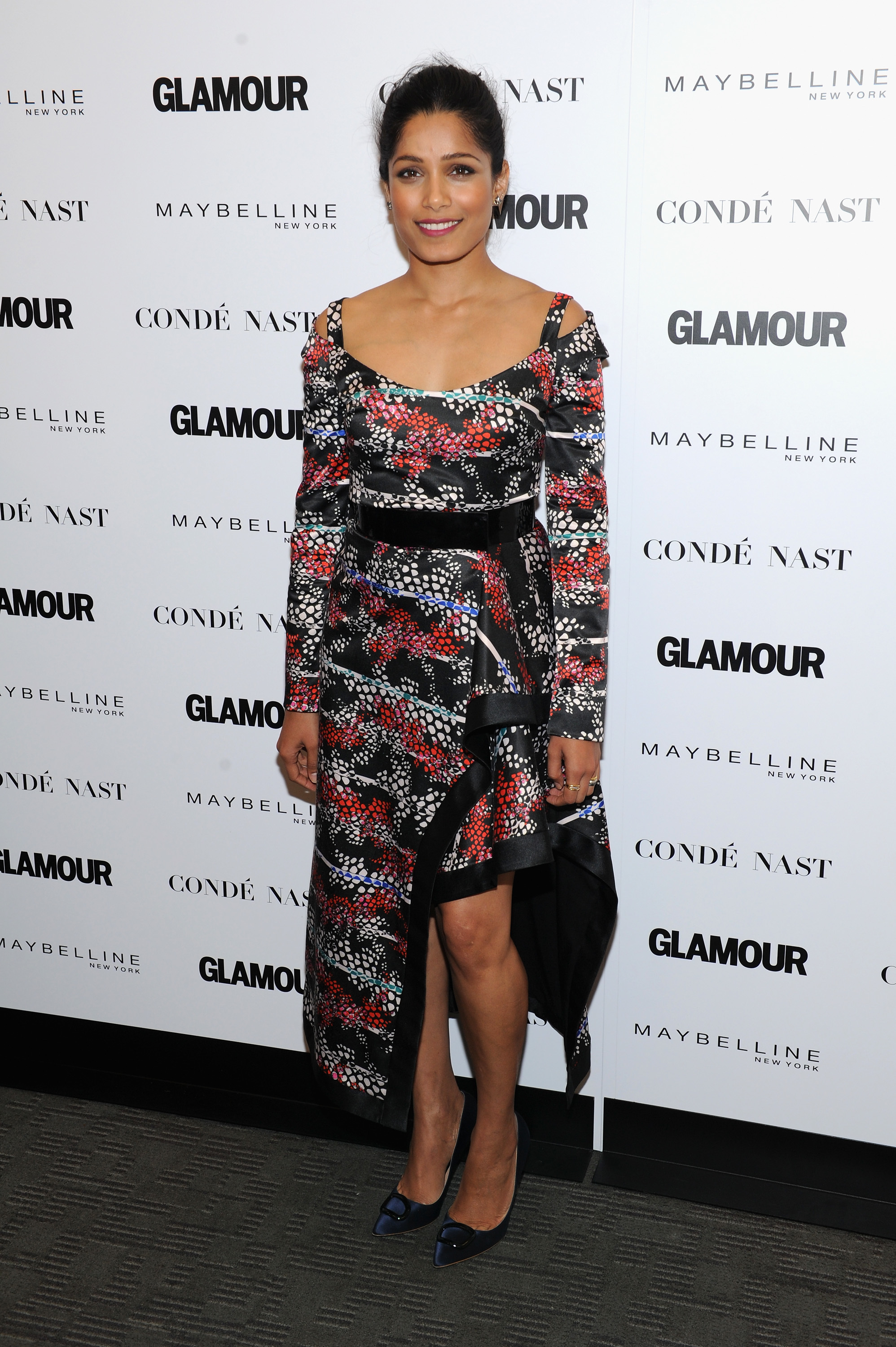 Freida Pinto attends Glamour's The Girl Project Rally on the International Day of the Girl in New York City on Oct. 11, 2017.