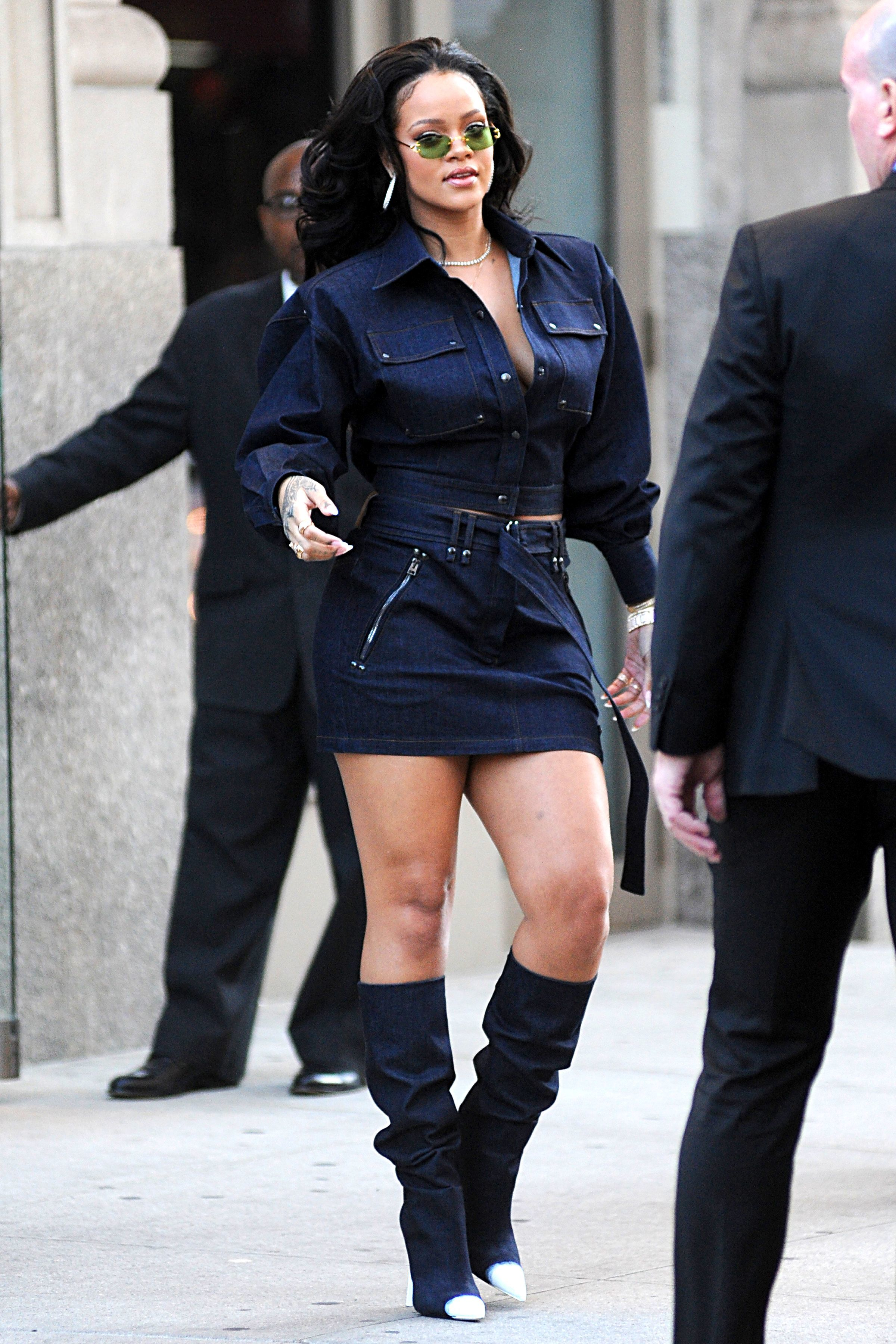 Rihanna steps out in New York City on Oct. 12, 2017.