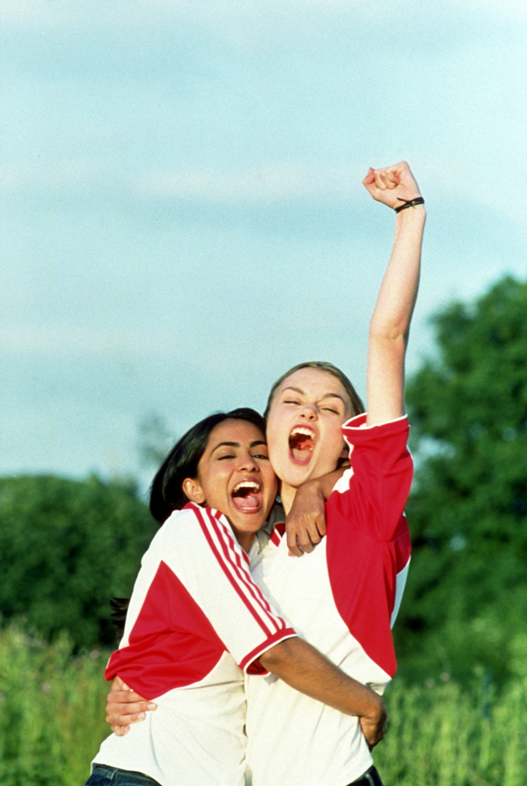 """Parminder Nagra and Keira Knightley in """"Bend It Like Beckham"""" in 2002."""