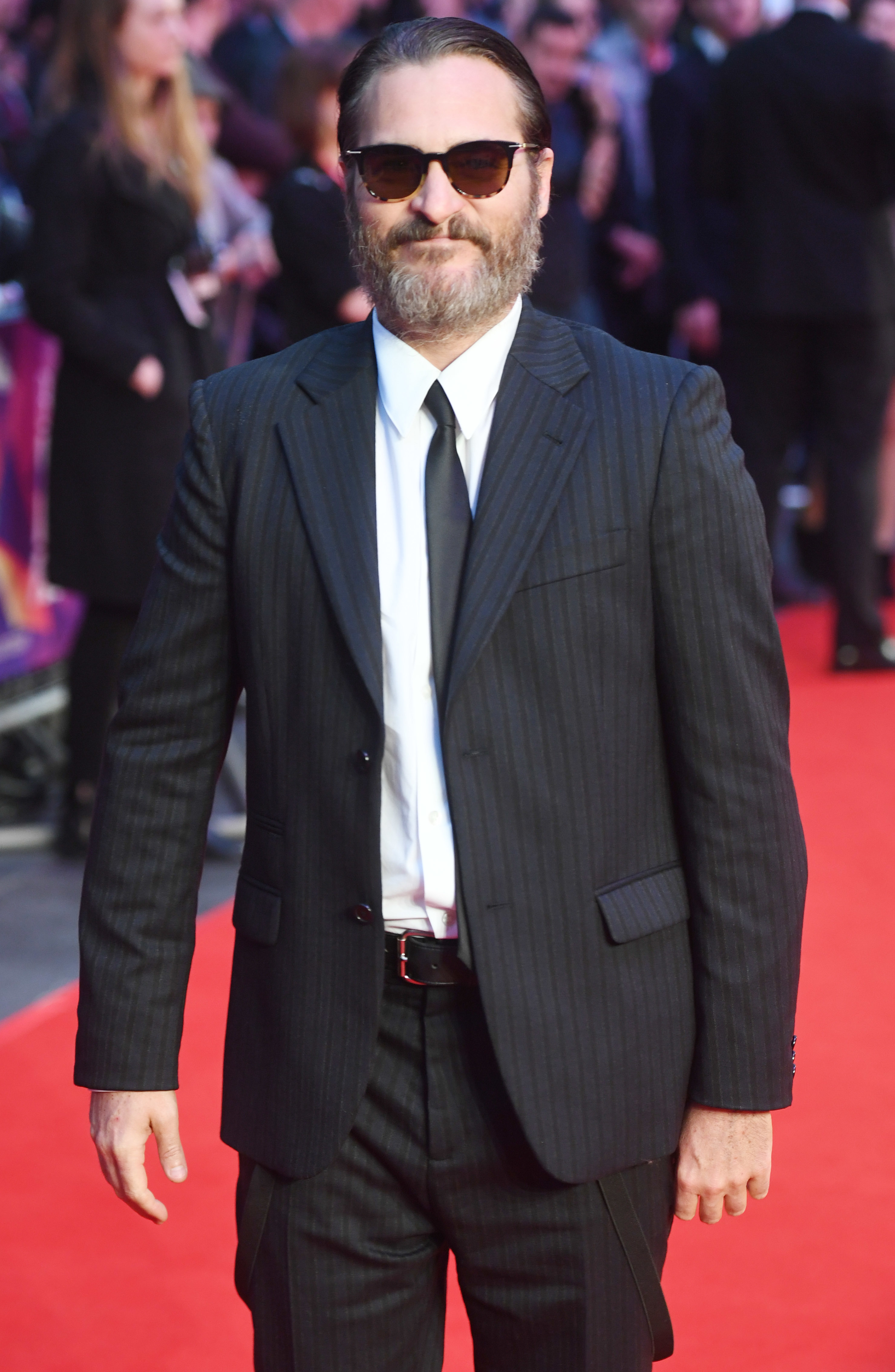 """Joaquin Phoenix attends the BFI London Film Festival premiere of """"You Were Never Really Here"""" at the Odeon Leicester Square in London on Oct. 14, 2017."""