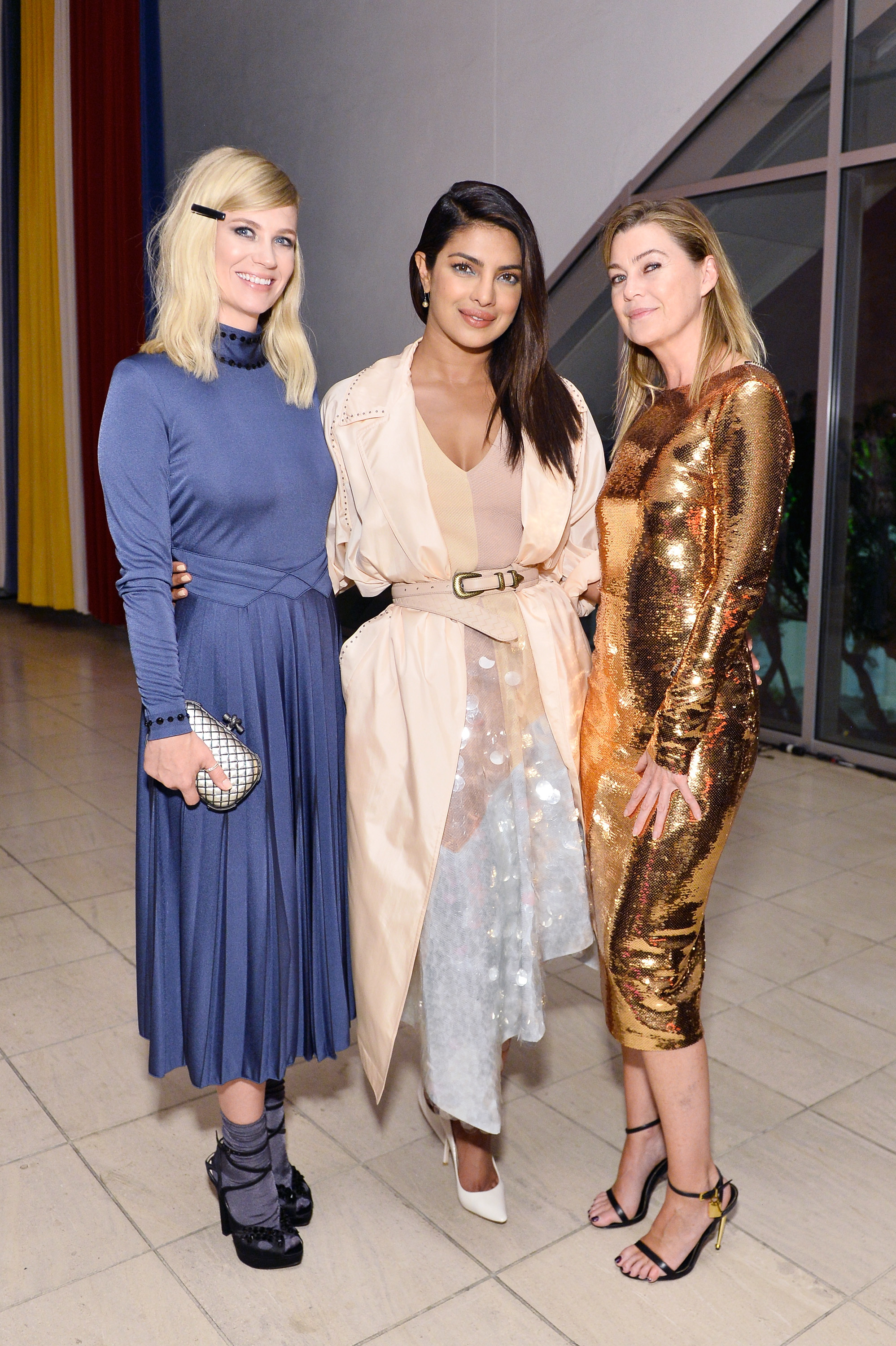 January Jones, Priyanka Chopra and Ellen Pompeo at the Hammer Museum 15th Annual Gala in the Garden with Generous Support from Bottega Veneta in Los Angeles on Oct.14, 2017.