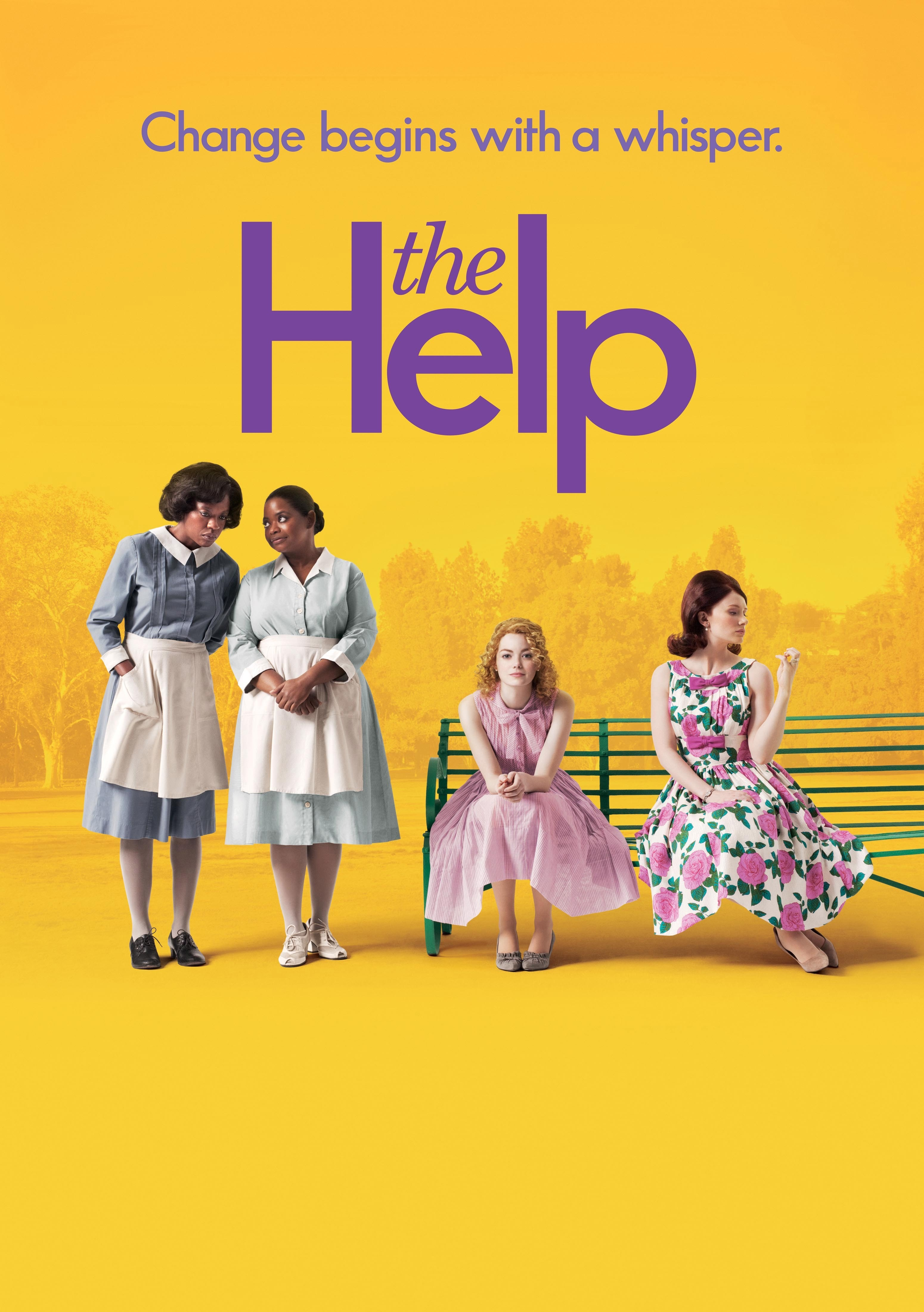 """Viola Davis, Octavia Spencer, Emma Stone and Bryce Dallas Howard appear on the movie poster for 2011's """"The Help."""""""