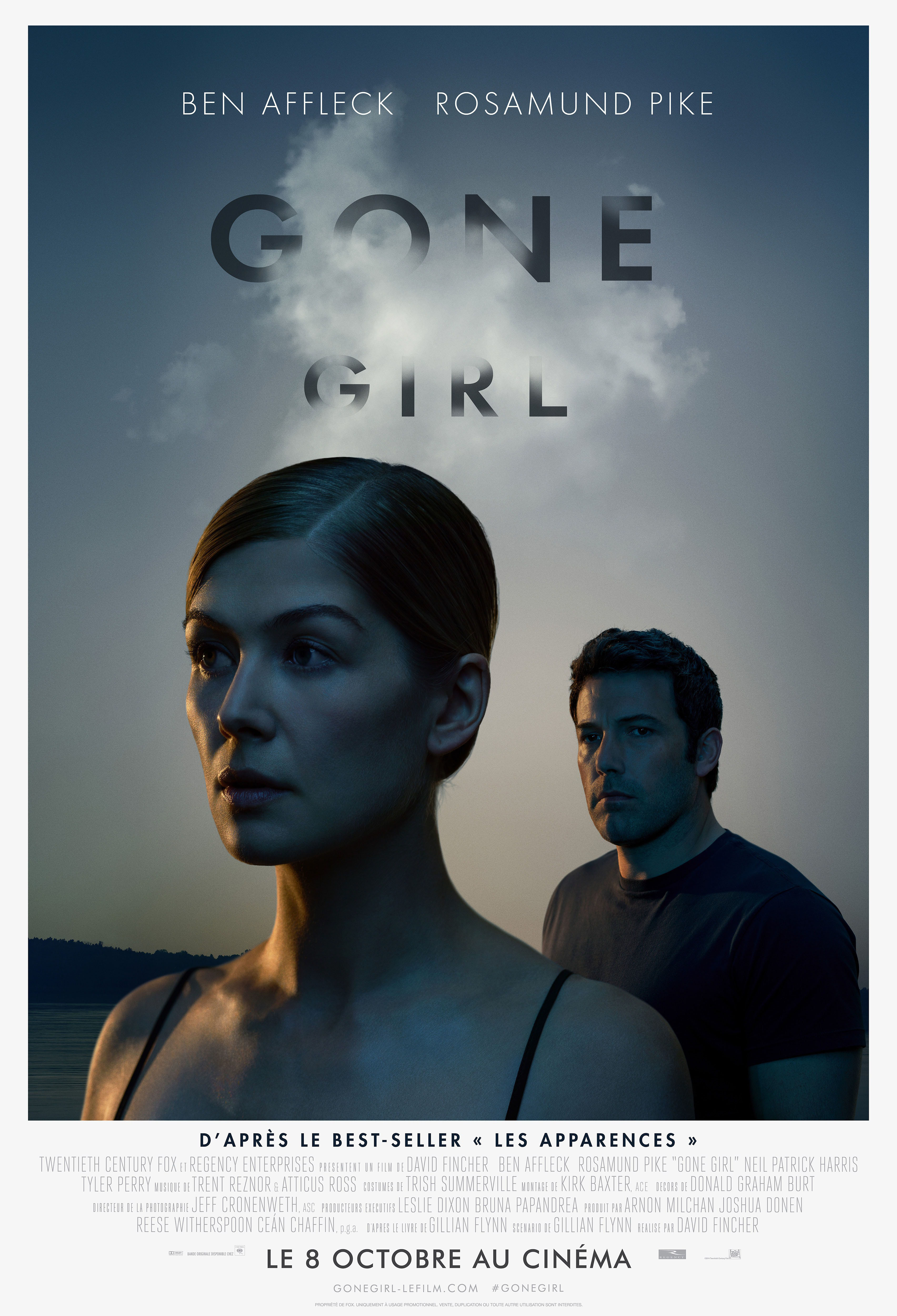"""Rosamund Pike and Ben Affleck appear on the movie poster for 2014's """"Gone Girl."""""""