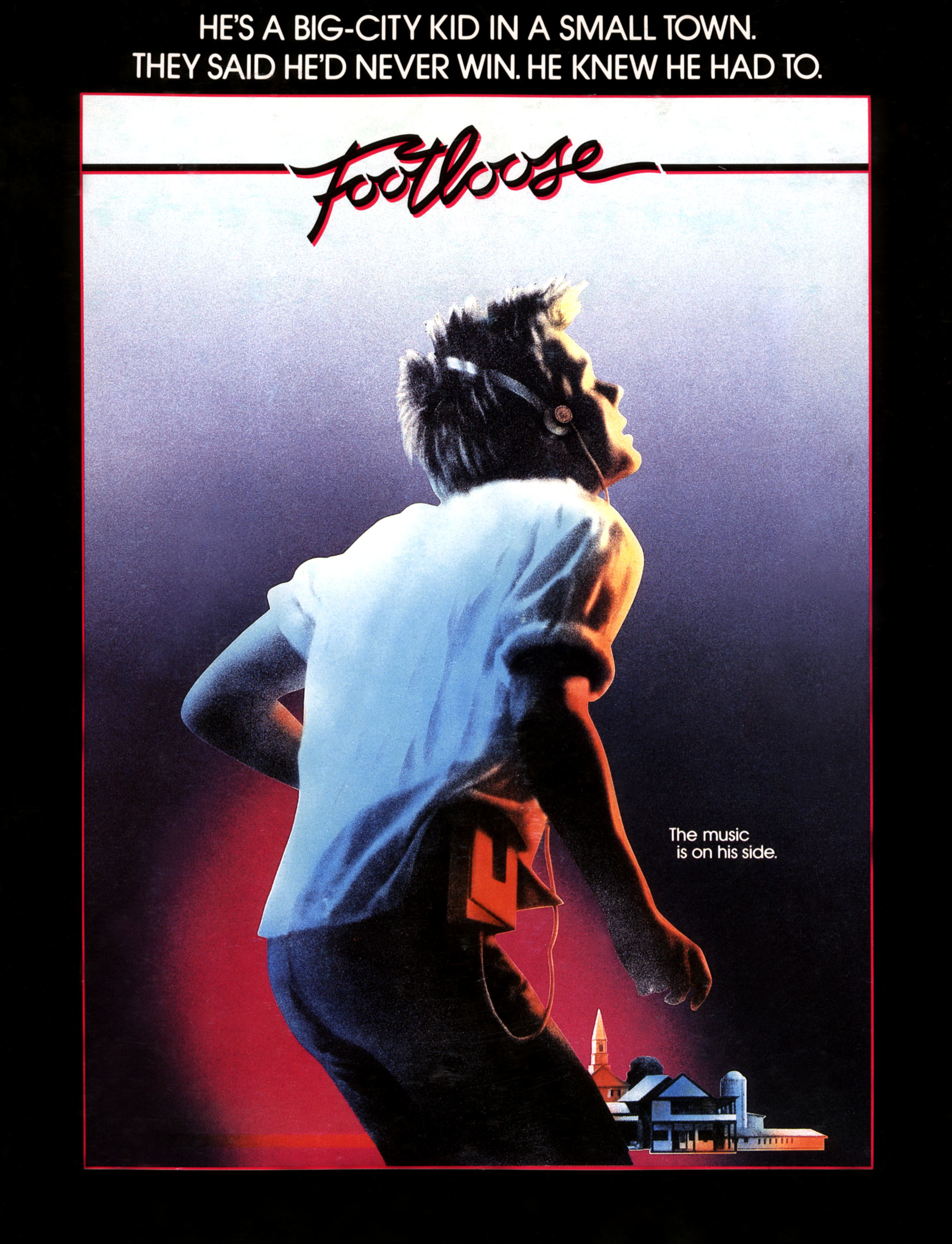 "Kevin Bacon appears on the movie poster for 1984's ""Footloose."""