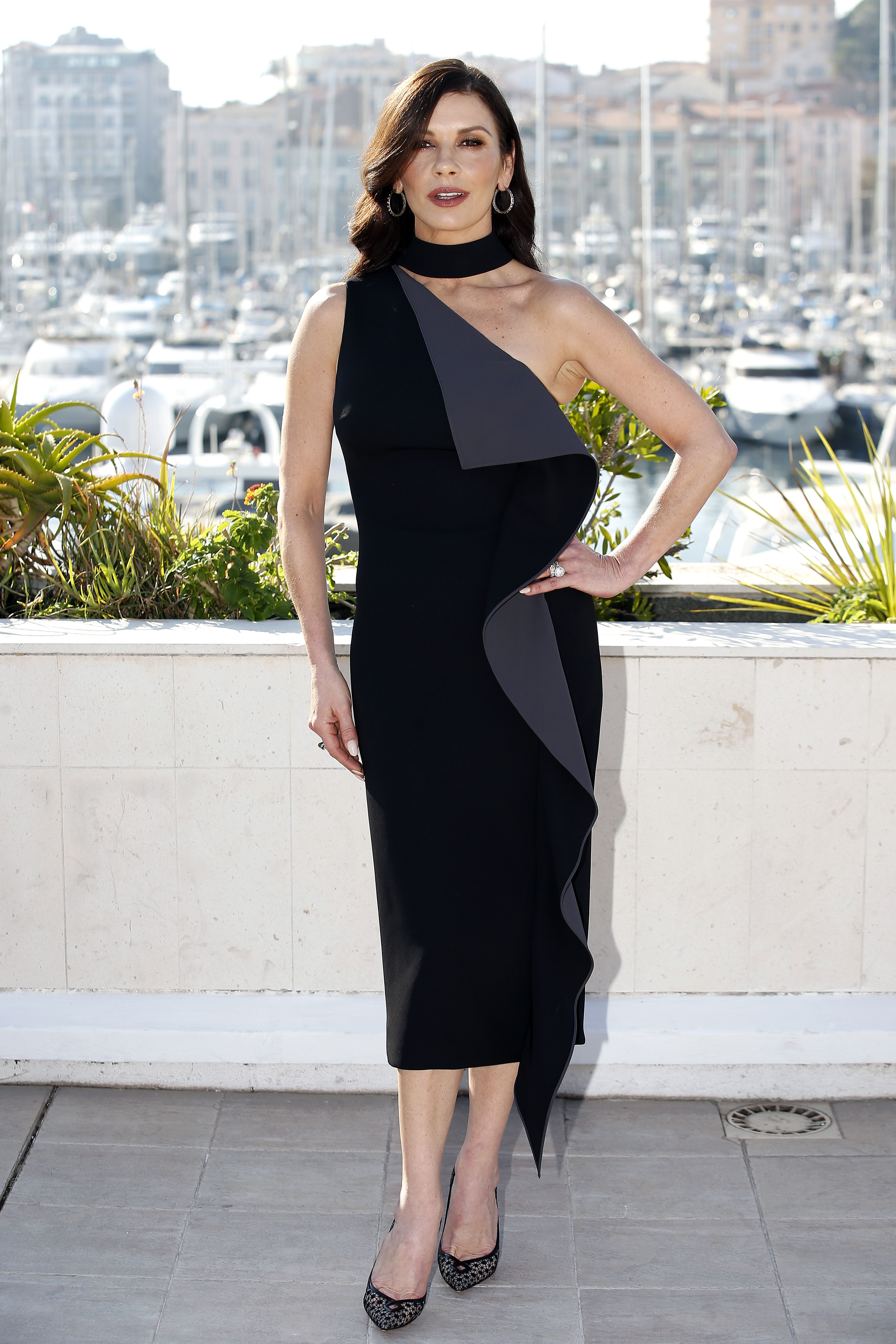 Catherine Zeta Jones attends the MIPCOM television content market 2017 in Cannes, France, on Oct. 16, 2017.