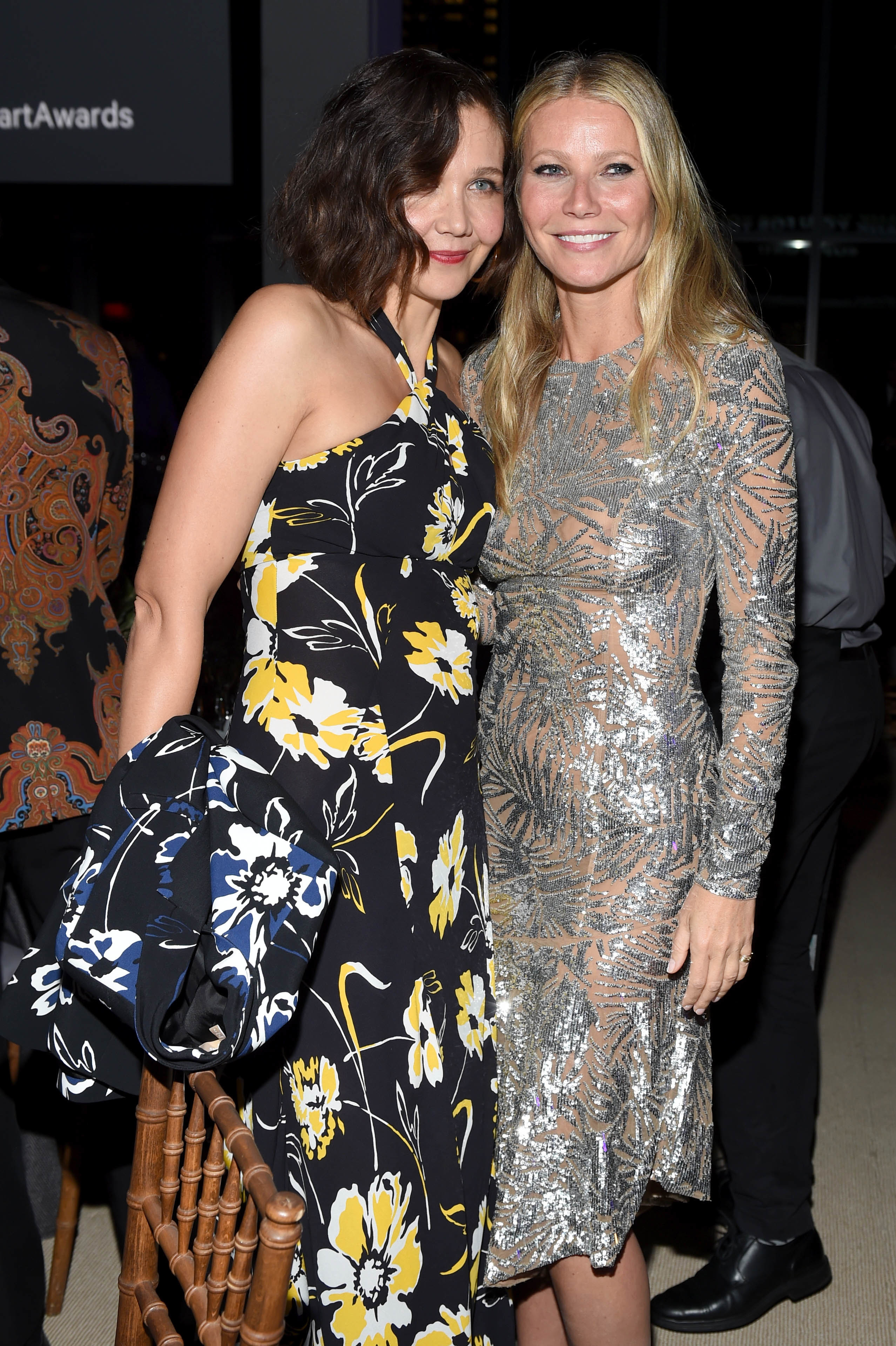 Maggie Gyllenhaal and Gwyneth Paltrow attend the 11th Annual God's Love We Deliver Golden Heart Awards in New York City on Oct. 16, 2017.