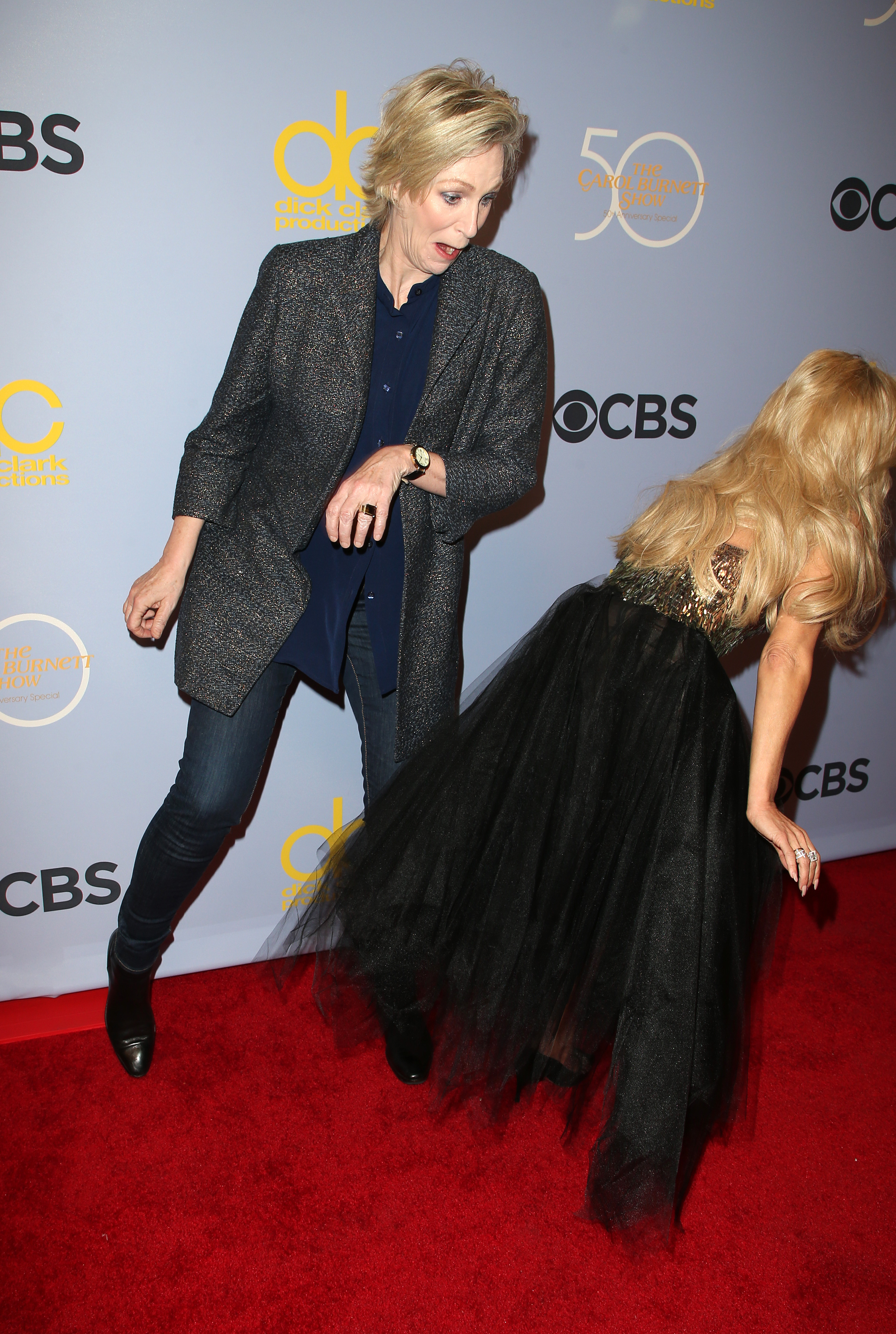 Jane Lynch attends CBS' 'The Carol Burnett Show 50th Anniversary Special' in Los Angeles on Oct. 4, 2017.