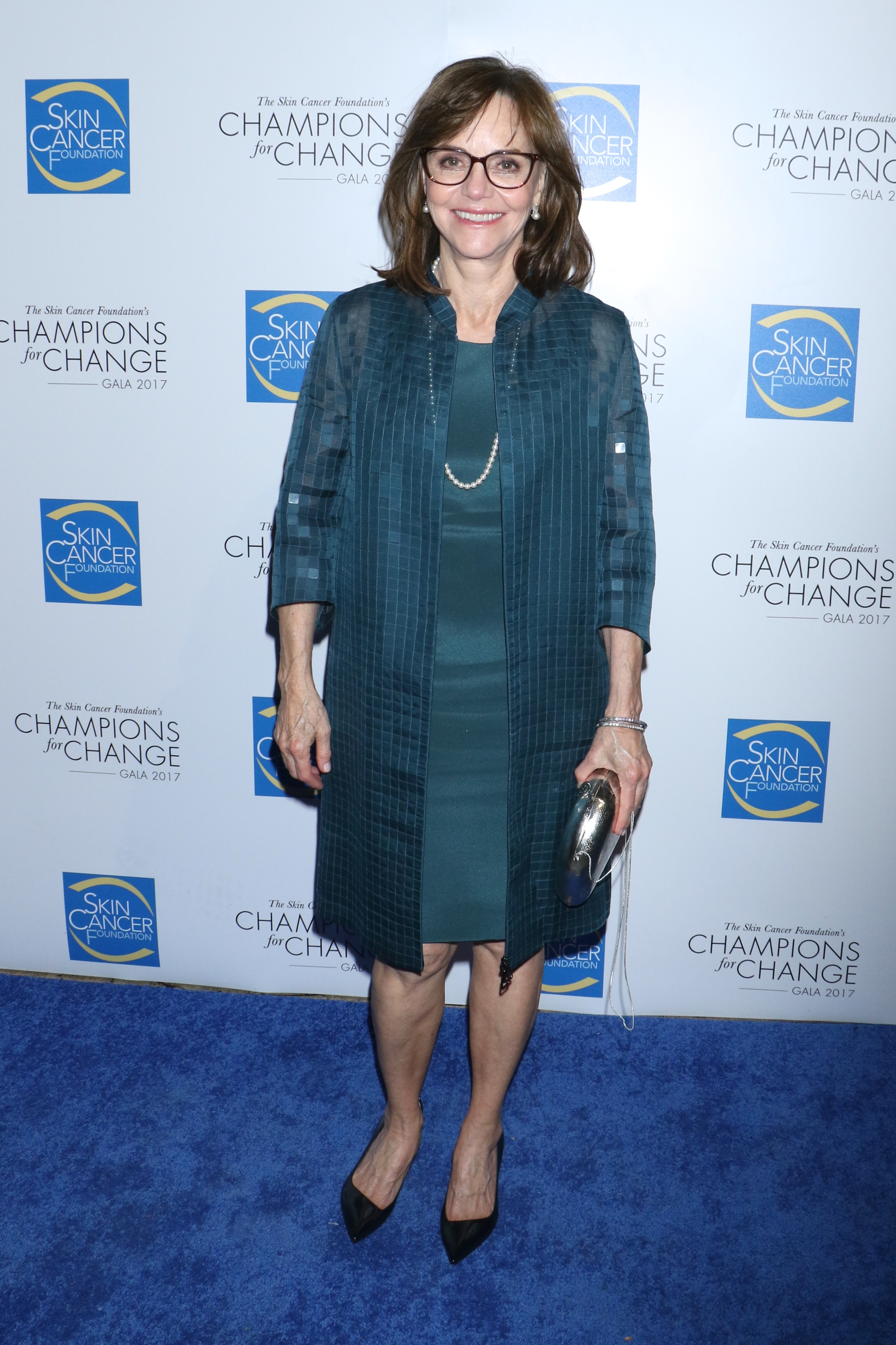 Sally Field attends The Skin Cancer Foundation's Champions for Change gala in New York City on Oct. 17, 2017.