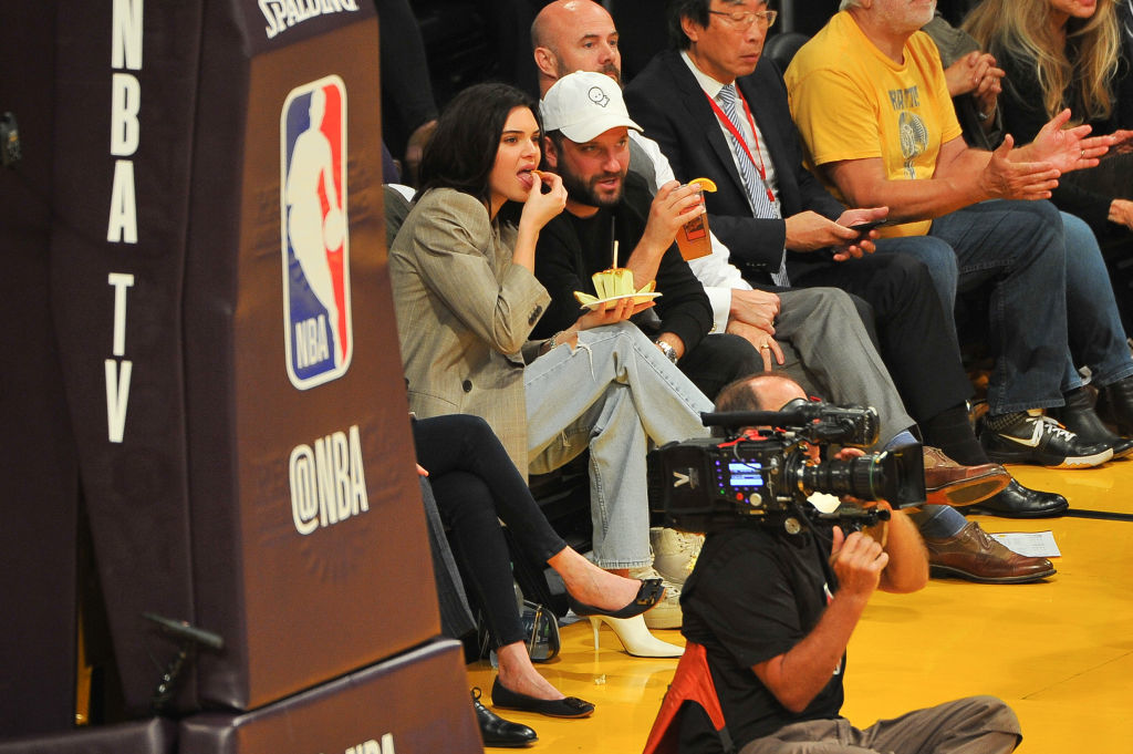 Kendall Jenner cheers on Blake Griffin in Los Angeles
