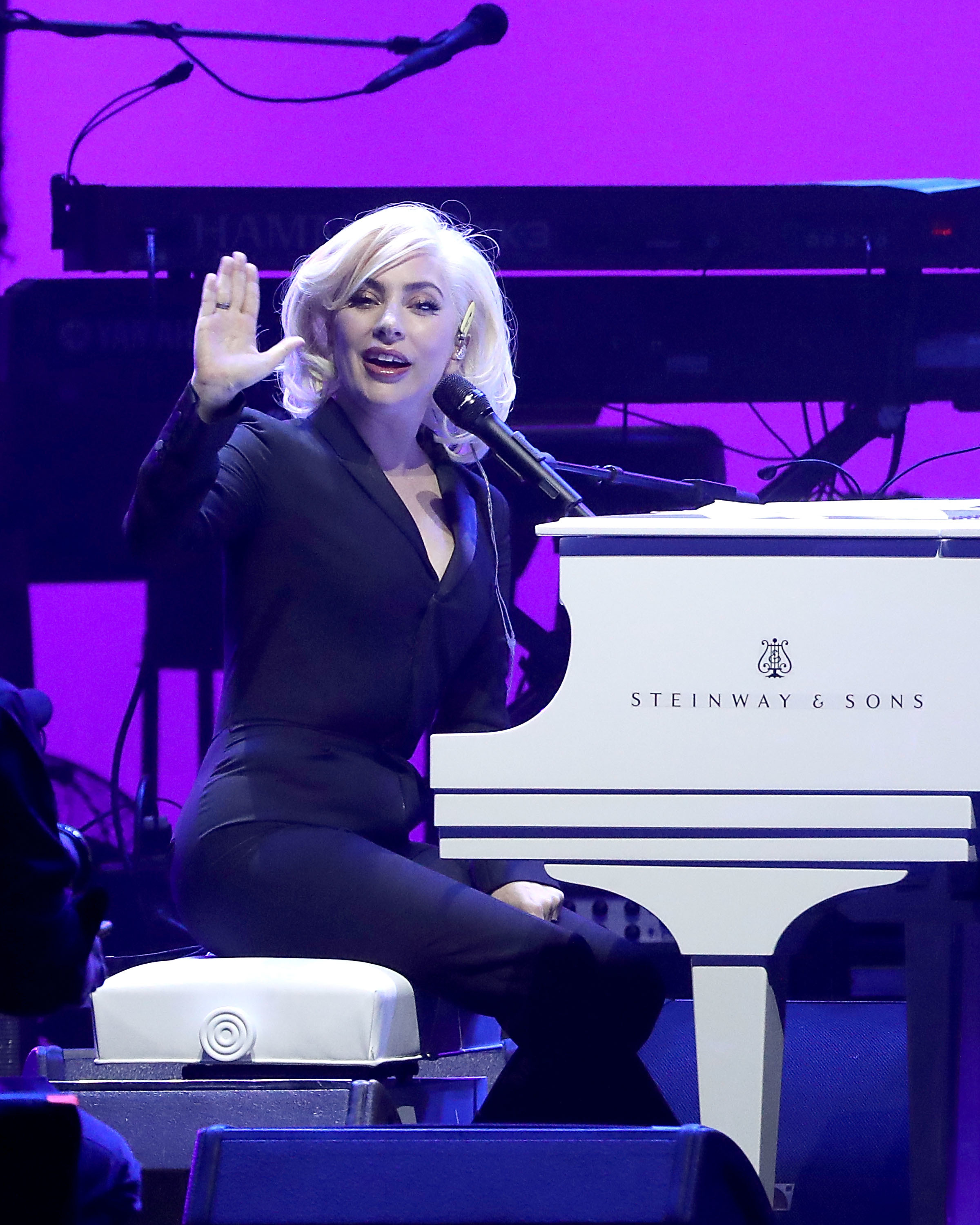 Lady Gaga stops her show to help an injured fan