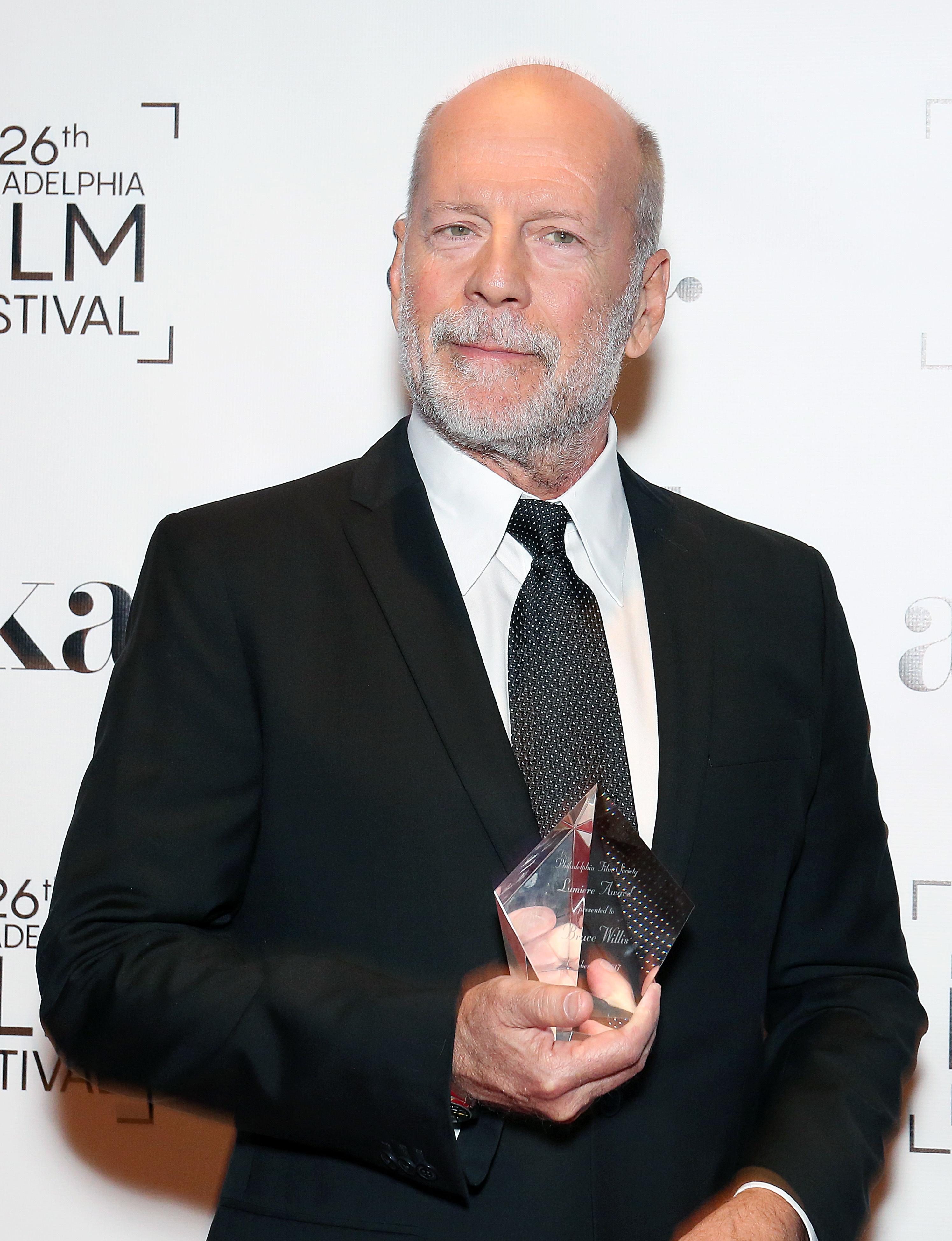 Bruce Willis attends the Luminere Awards in Philadelphia on Oct. 26, 2017.