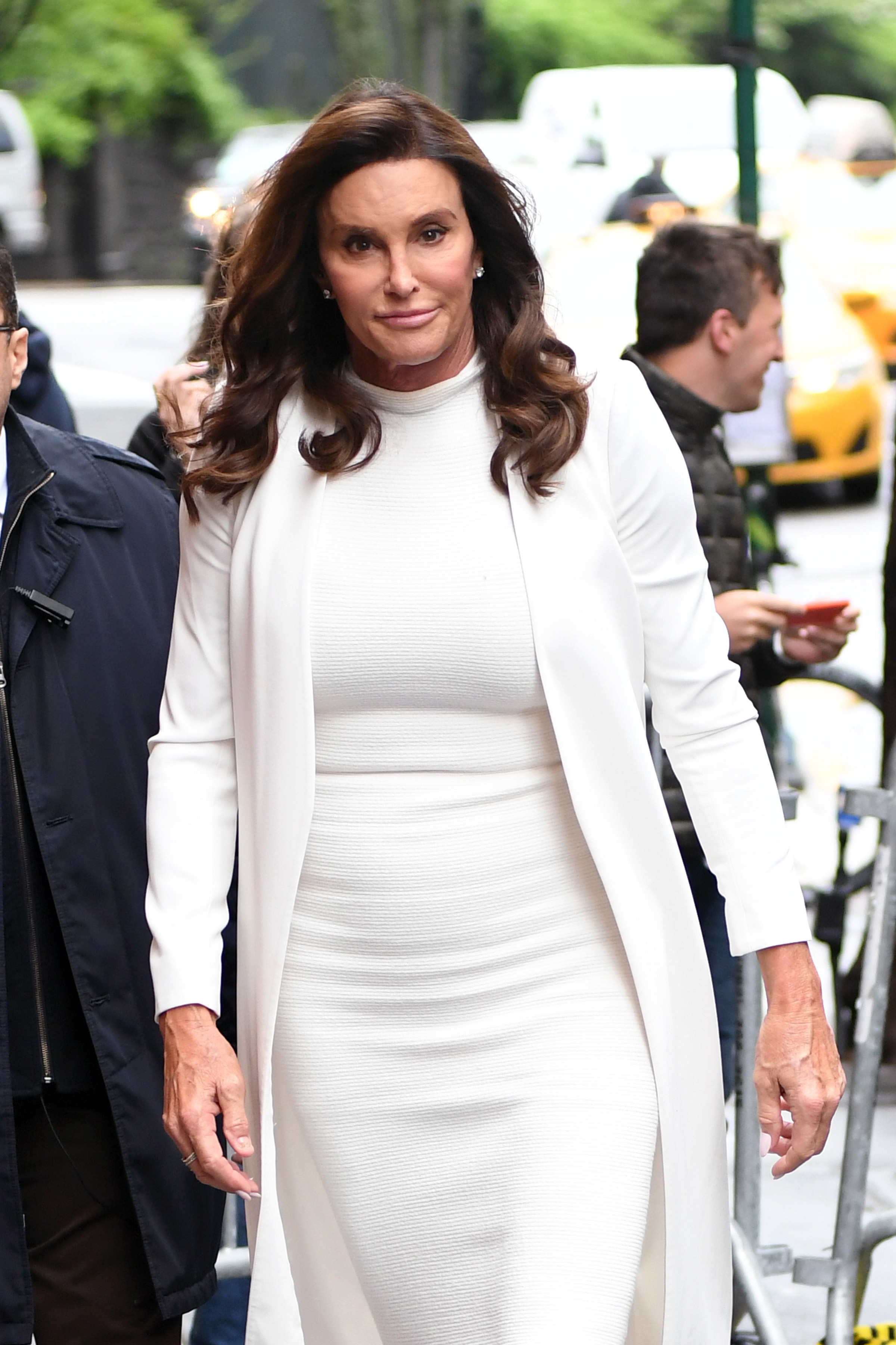 Caitlyn Jenner arrives at ABC Studios in New York City on April 26, 2017.