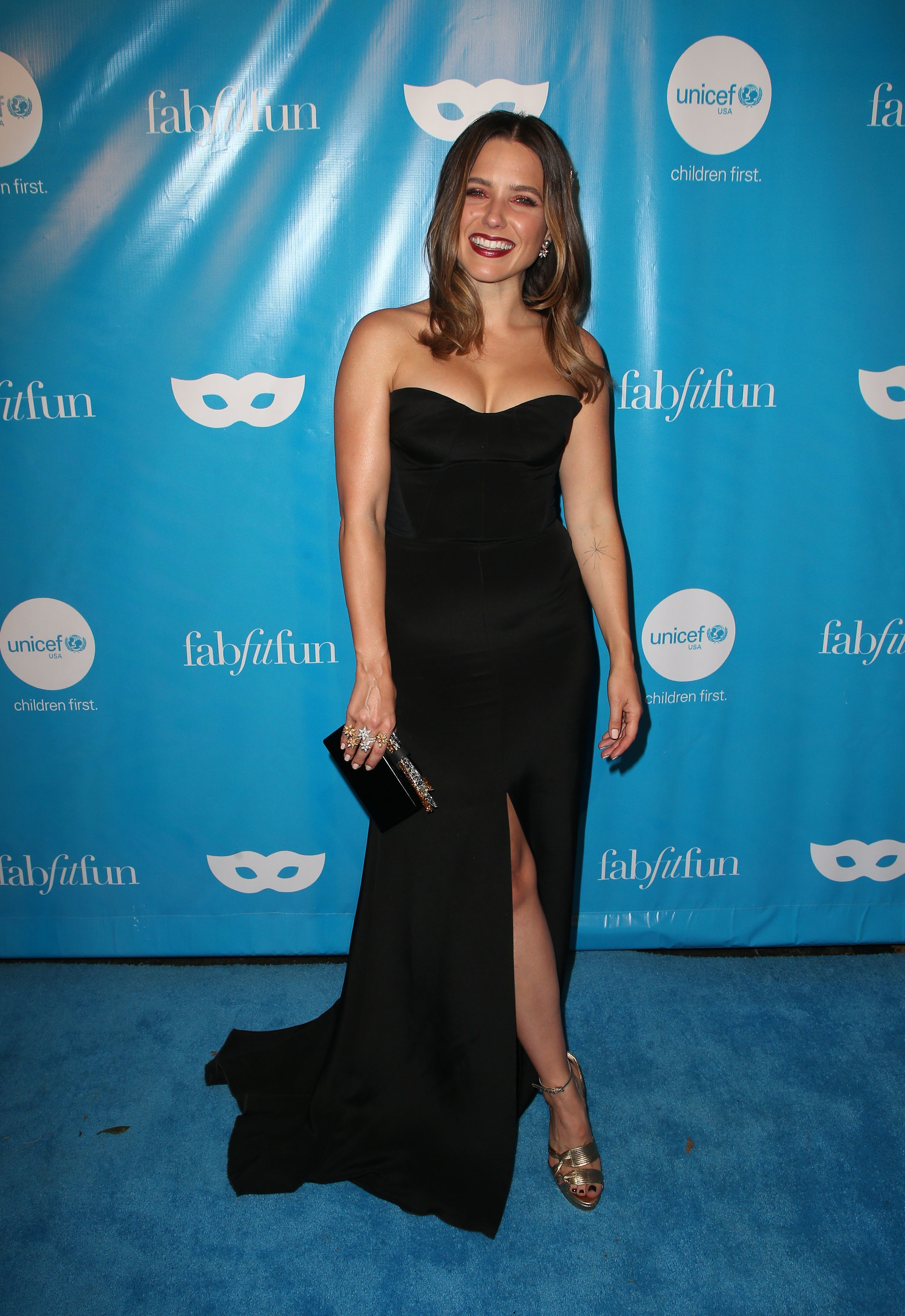 Sophia Bush attends the UNICEF Masquerade Ball in Los Angeles on Oct. 27, 2017.
