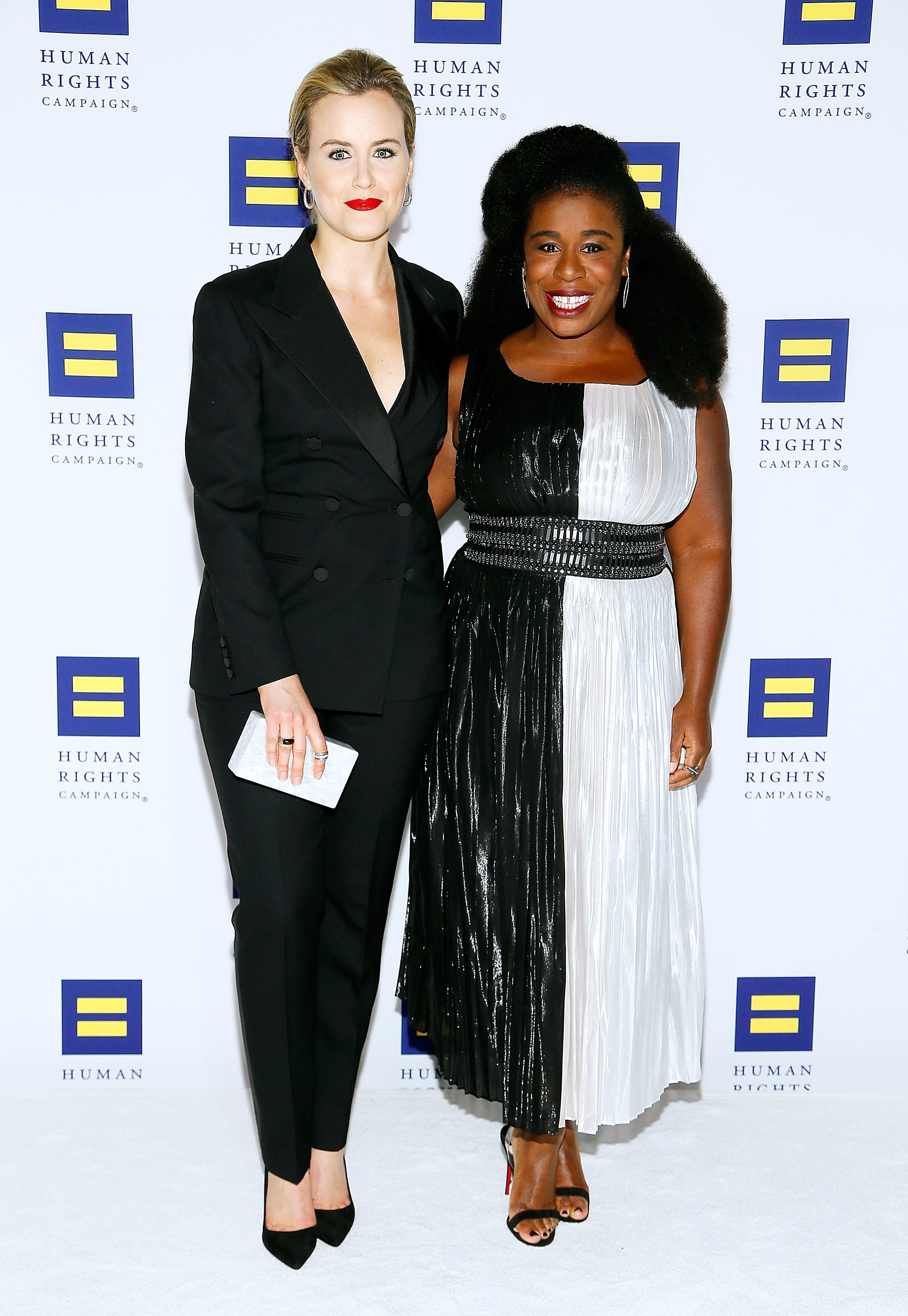 Taylor Schilling and Uzo Aduba attend the 21st Annual HRC National Dinner at the Washington Convention Center in Washington D.C. on Oct. 28, 2017.
