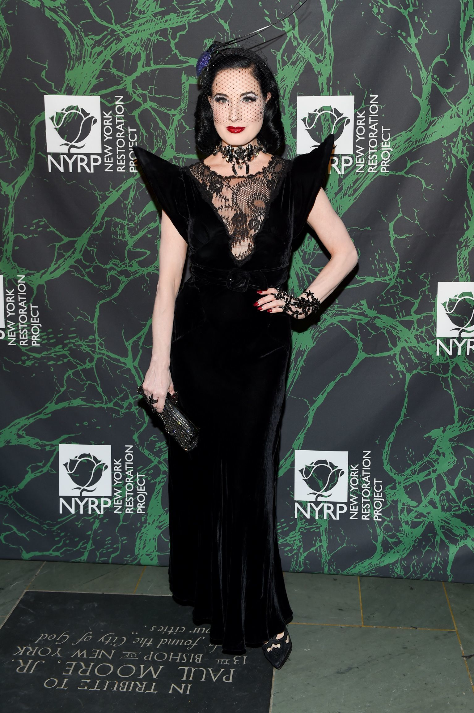 Dita Von Teese attends Bette Midler's Hulaween Party benefiting The New York Restoration Project in New York City on Oct. 30, 2017.