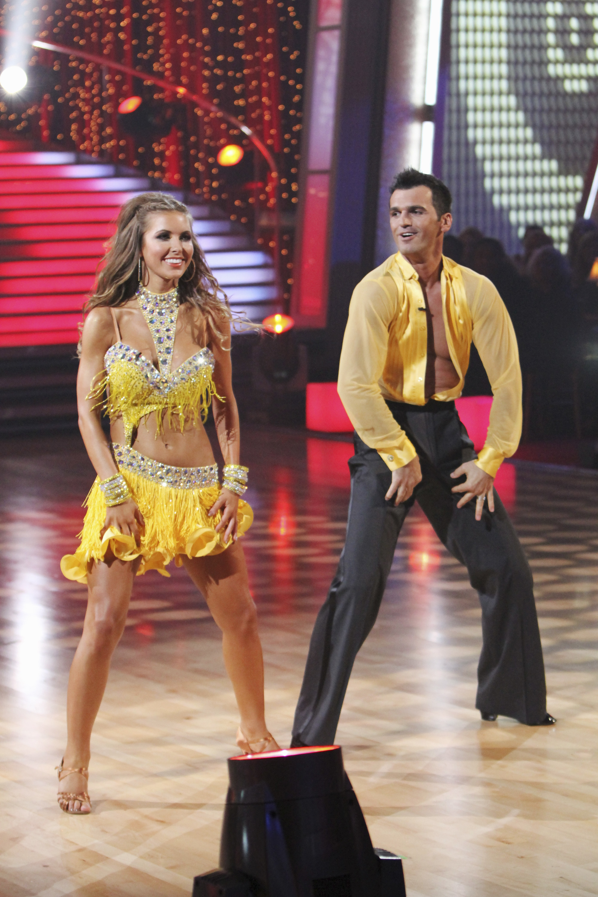 """Audrina Patridge dances with partner Tony Dovolani on """"Dancing With the Stars"""": Season 11 in Los Angeles on Sept. 20, 2010."""