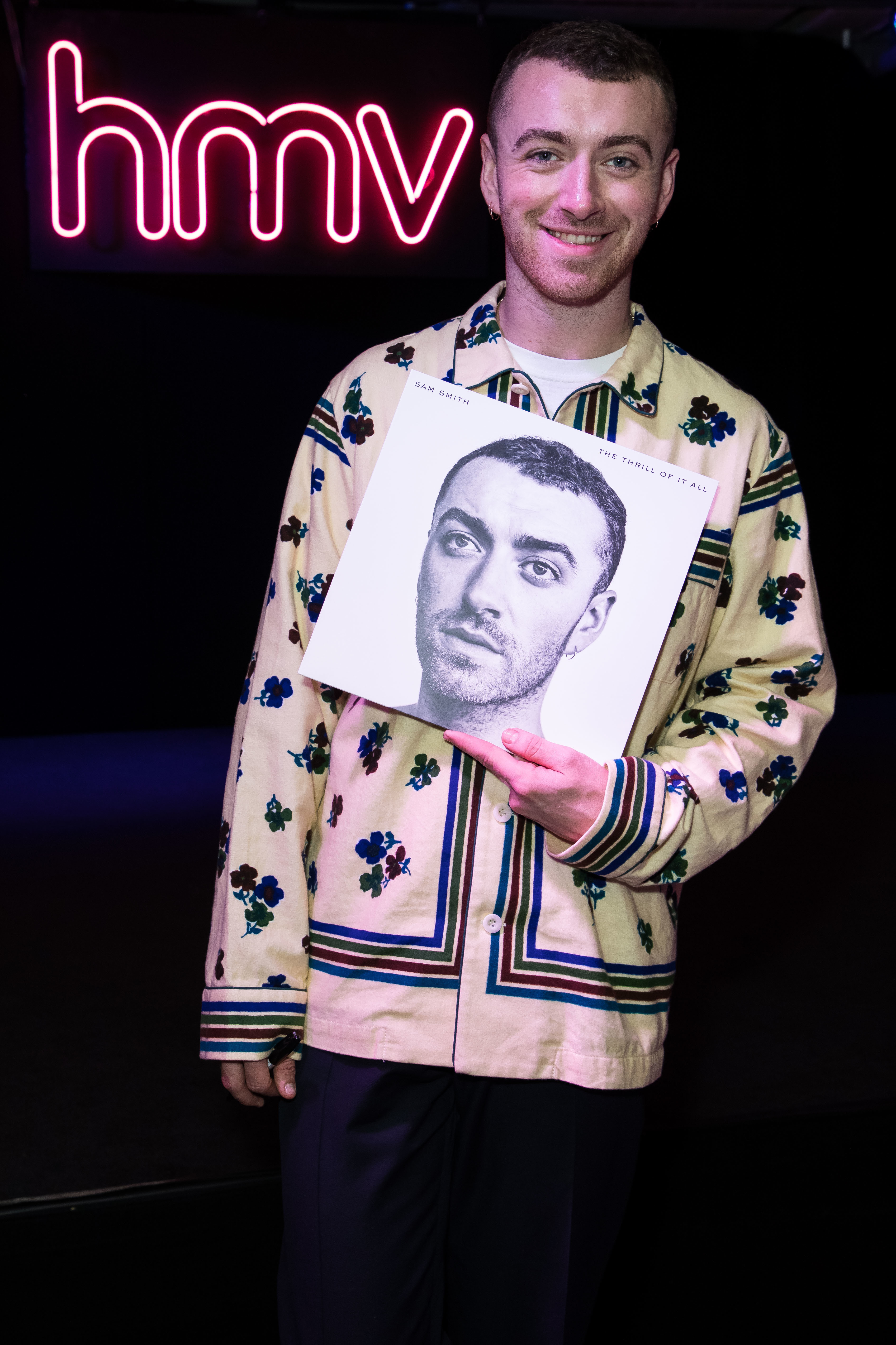 Sam Smith meets fans at hmv Oxford Streetand signs copies of his latest album  in London on Nov. 3, 2017.