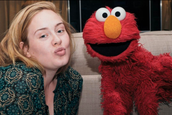 """""""Elmo, I love you. Thanks for coming, See you in New York X""""   Adele, who posted this on March 10, 2017."""