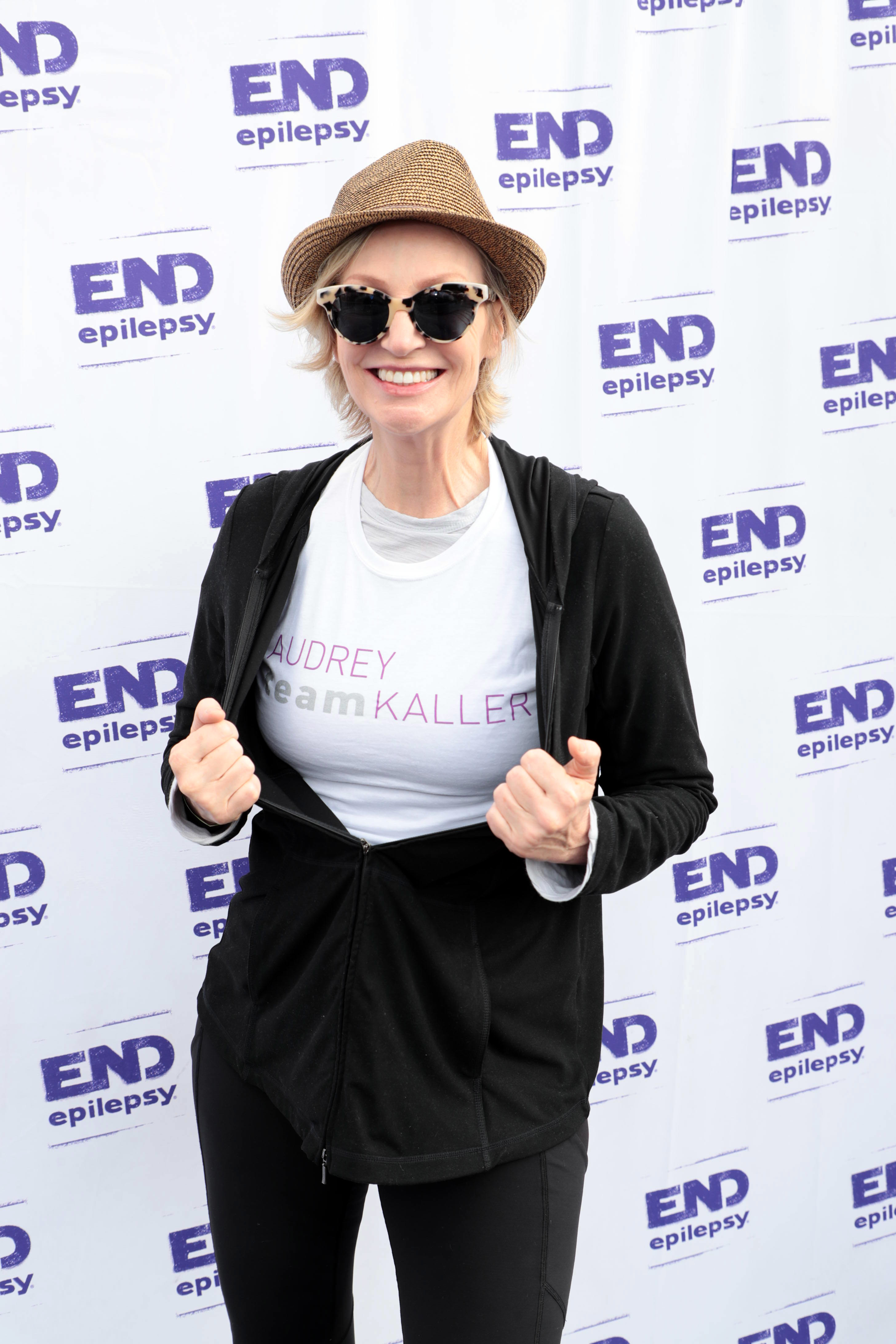 Jane Lynch attends The Walk to End Epilepsy in Pasadena, Calif., on Nov. 5, 2017.
