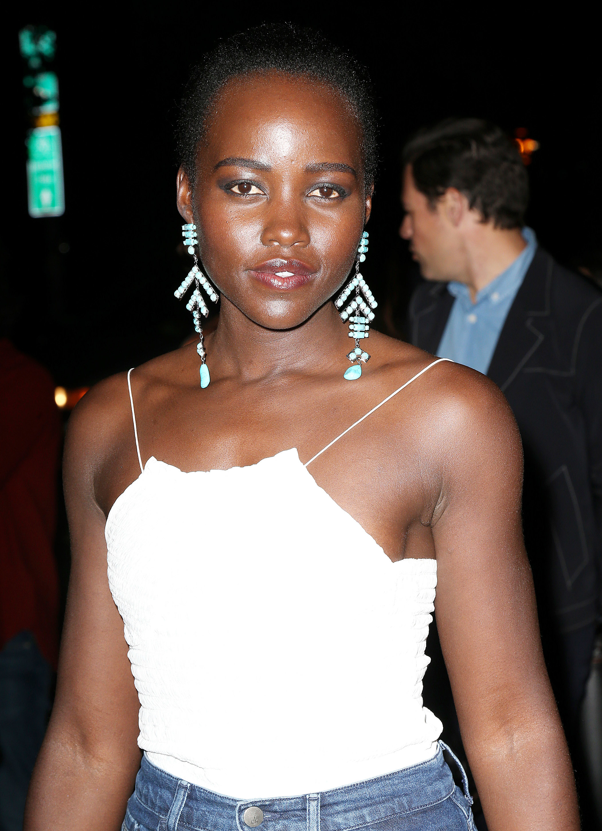 Lupita Nyong'o attends the Mert and Marcus book launch during New York Fashion Week on Sept. 7, 2017.