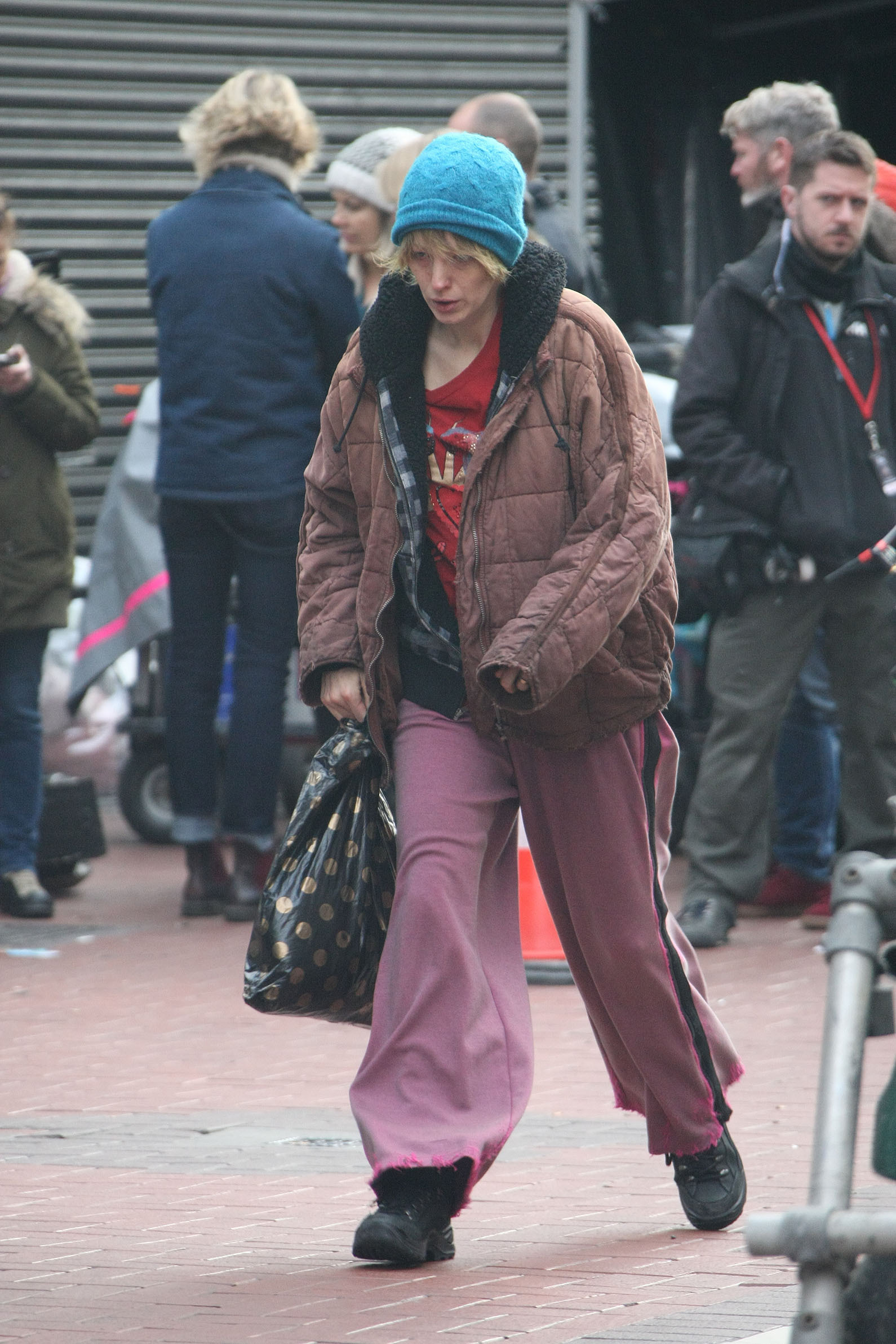 Blake Lively pictured on the film set of The Rythym Section in Dublin, Ireland, on Nov. 6, 2017.