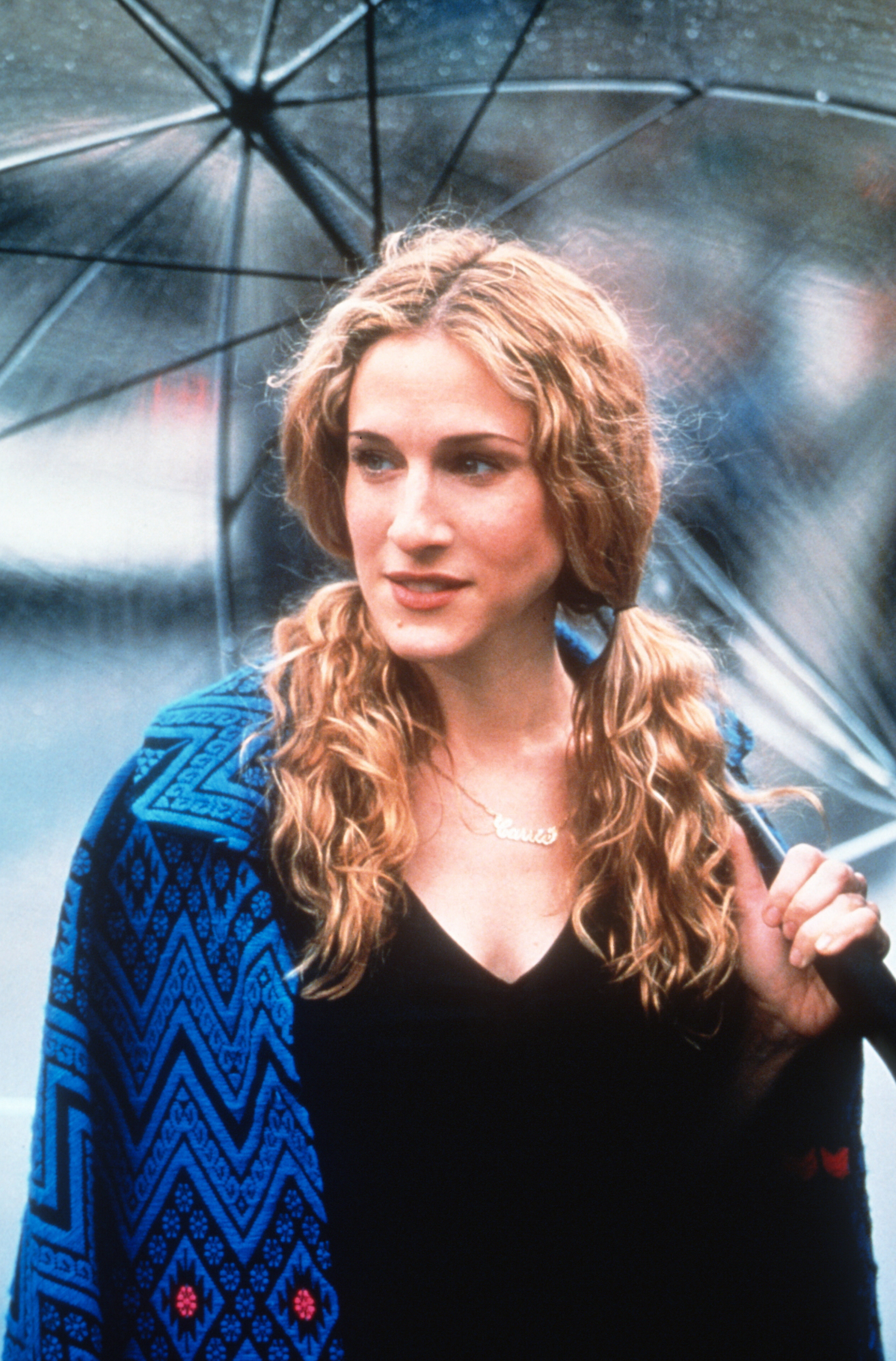 """Sarah Jessica Parker appears as Carrie in """"Sex and the City"""" in 1999."""