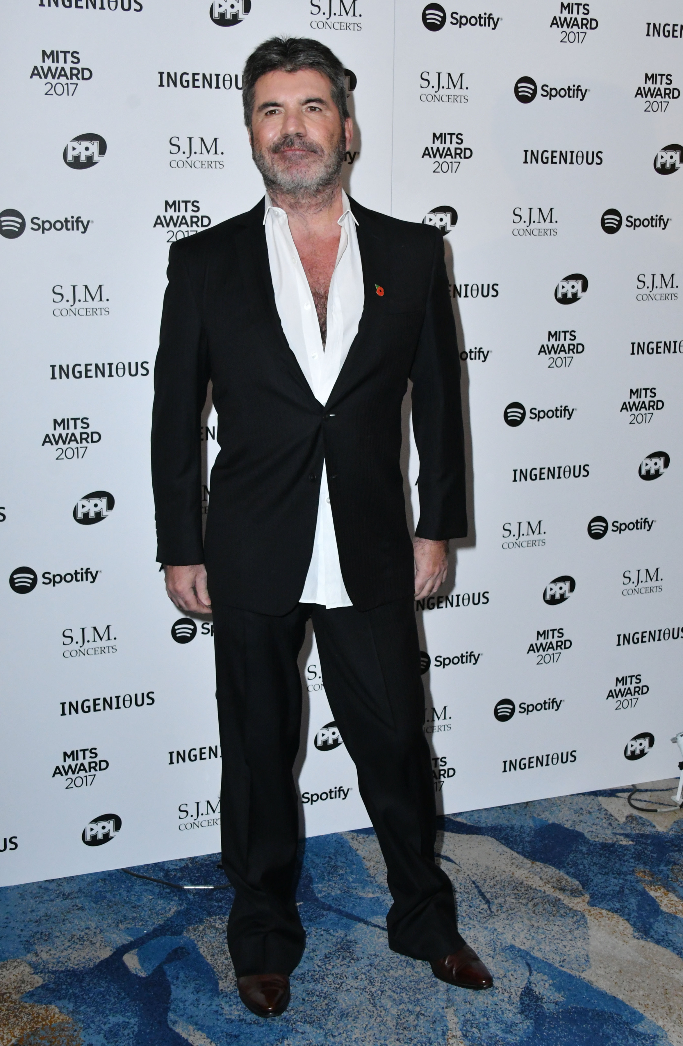 Simon Cowell attends the 26th Annual Music Industry Trusts Award in London on Nov. 6, 2017.