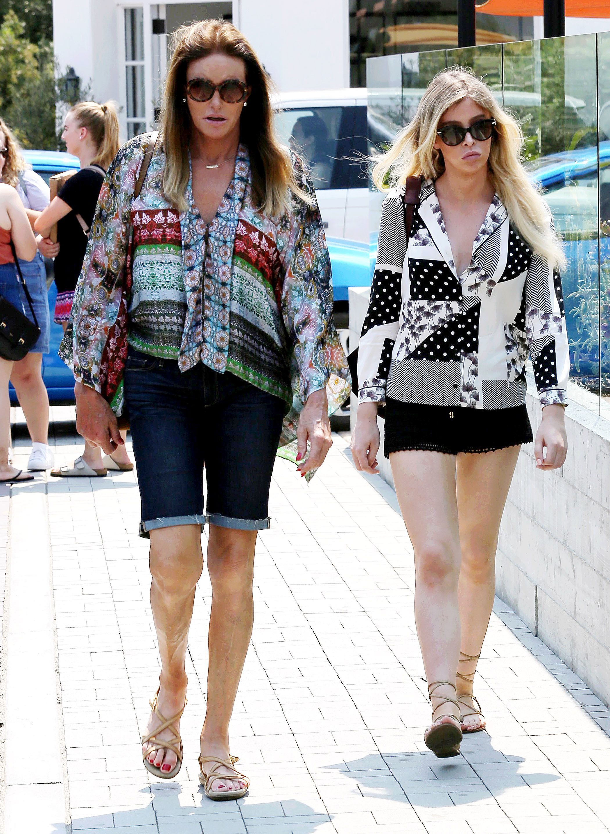 Caitlyn Jenner and Sophia Hutchins in Malibu, California on Sept. 2, 2017.