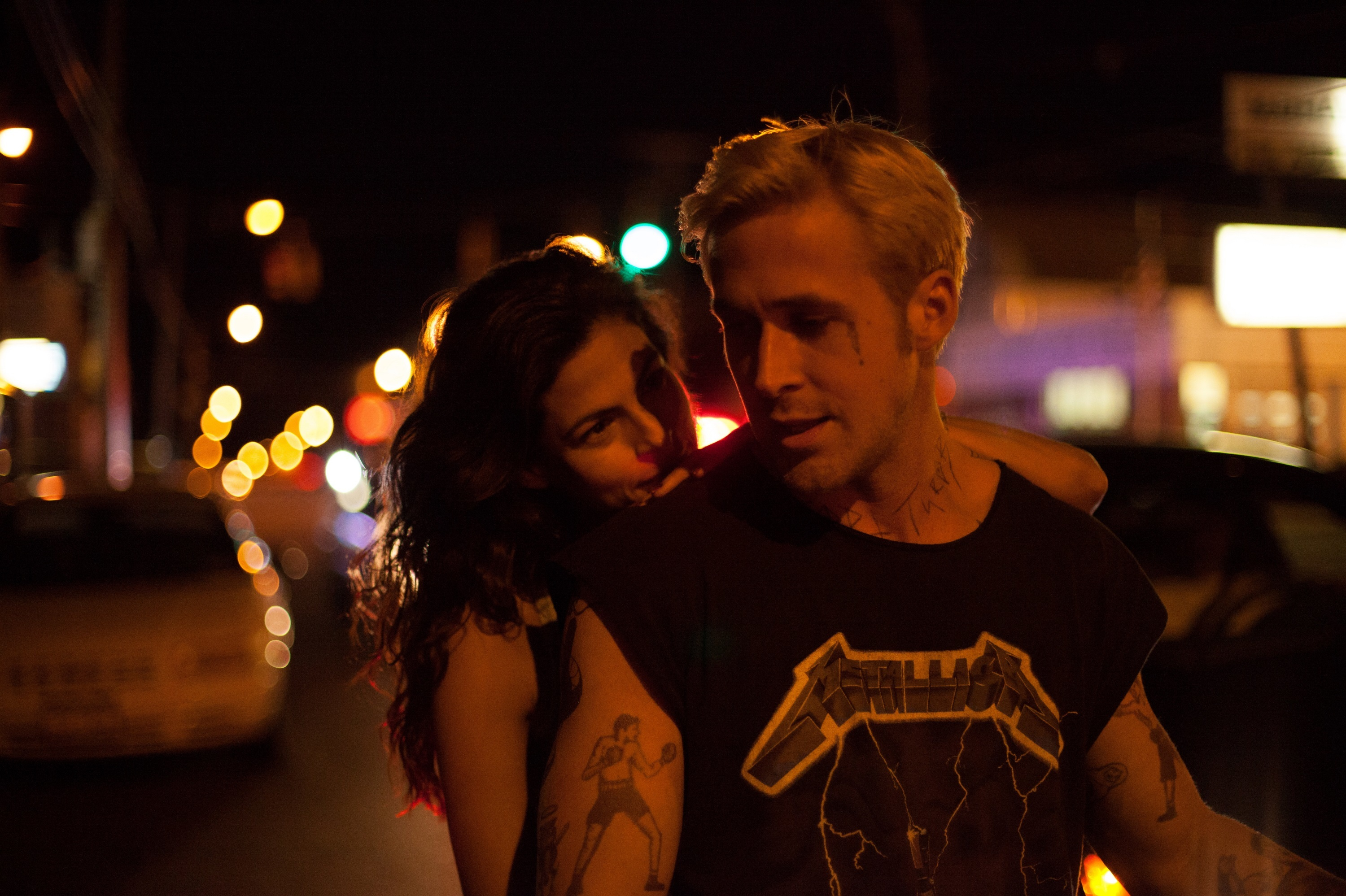 "Eva Mendes and Ryan Gosling star in ""The Place Beyond The Pines"" in 2012."