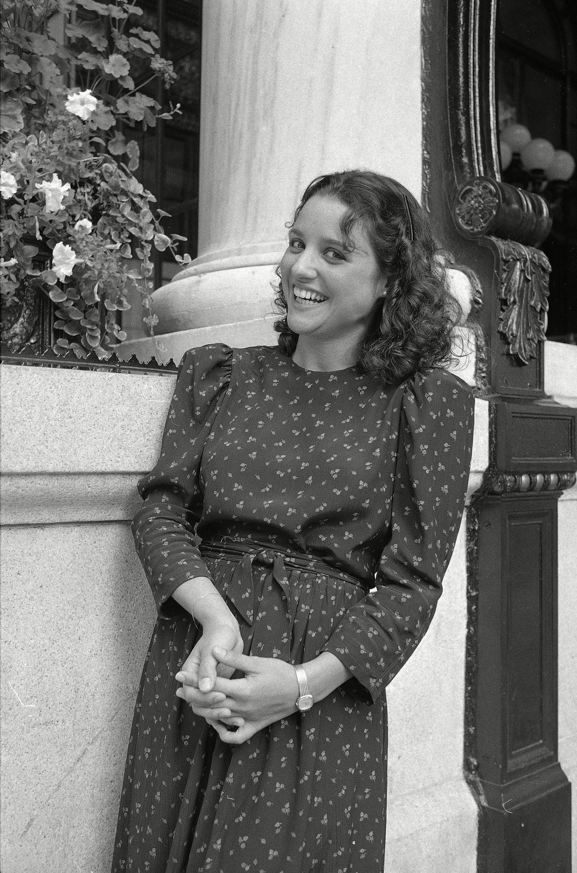 "The newest cast member of ""Saturday Night Live,"" Julia Louis Dreyfus is shown at the Plaza Hotel in New York in 1982."
