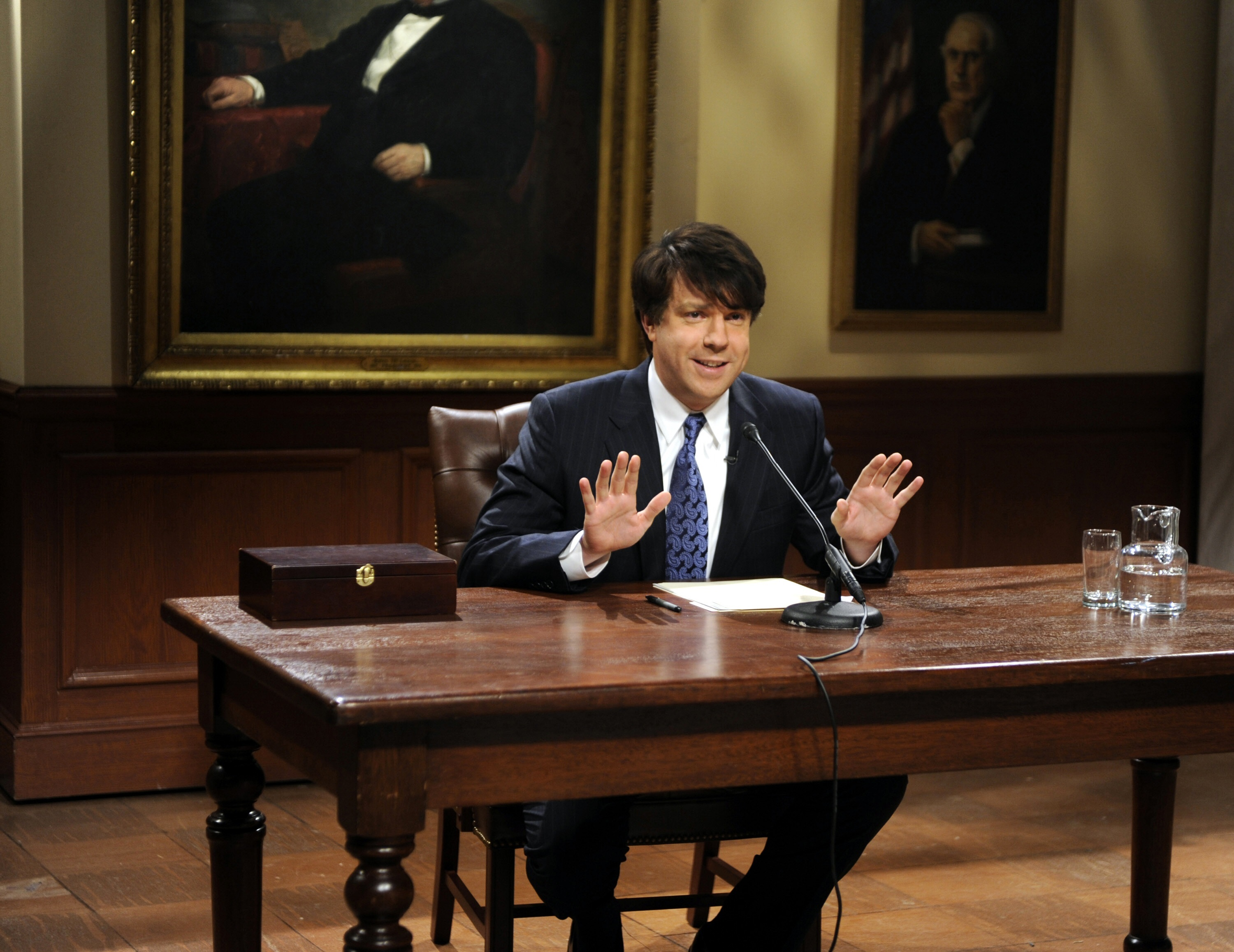 "Jason Sudeikis as Governor Rod Blagojevich on ""Saturday Night Live"" on Dec. 13, 2008."
