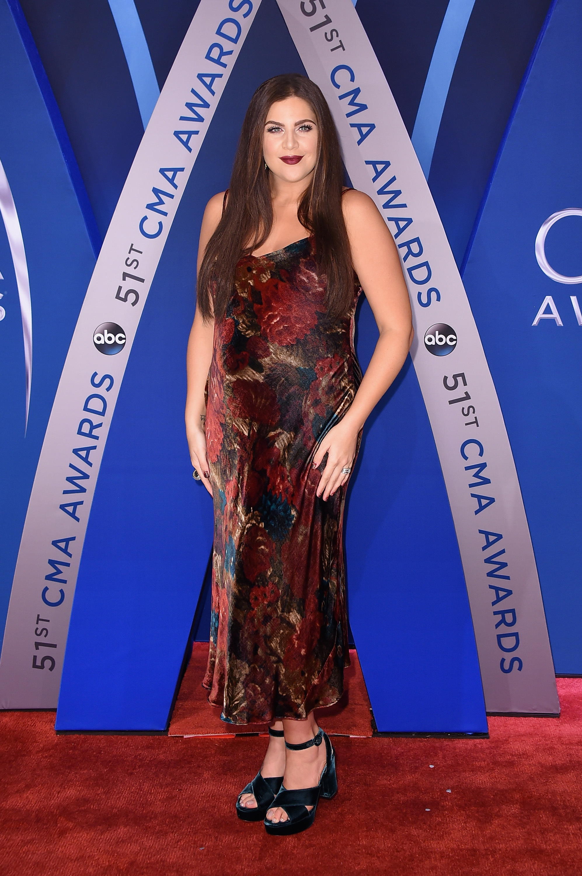 Hillary Scott attends the 51st Annual CMA Awards in Nashville on Nov. 8, 2017.
