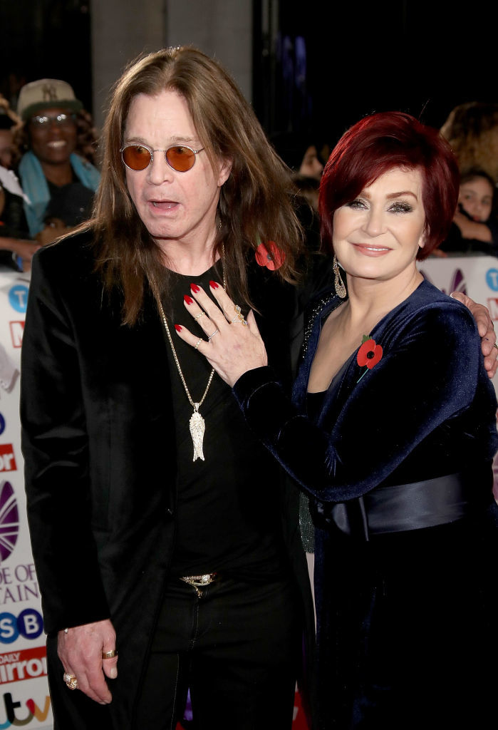 Ozzy and Sharon Osbourne attend the Pride Of Britain Awards at Grosvenor House, in London on Oct. 30, 2017.