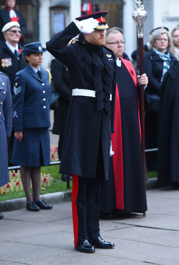Prince Harry honors fallen soldiers ahead of Armistice Day at Westminster Abbey