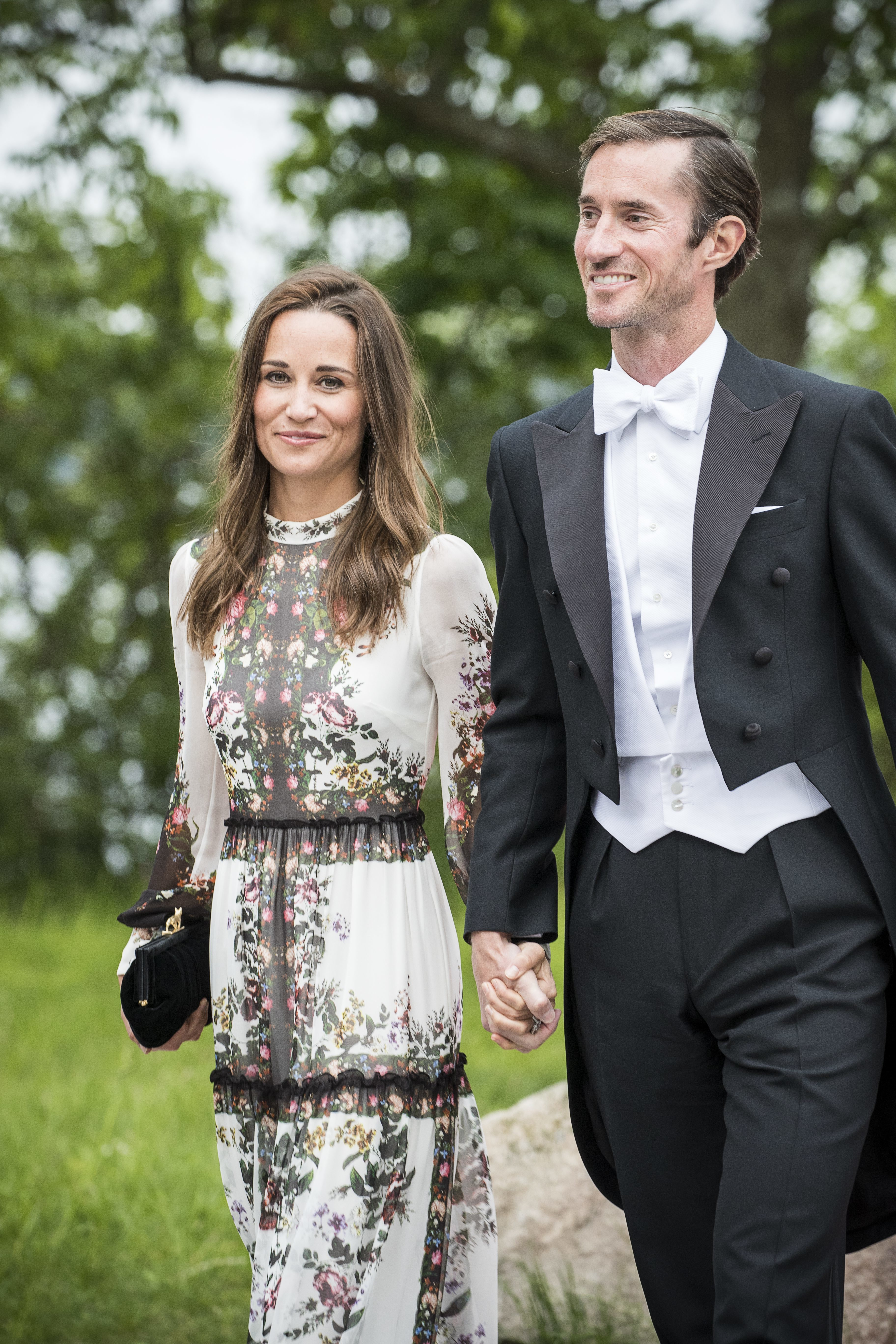 Pippa Middleton and James Matthews attend the wedding party for Jons Bartholdson and Anna Ridderstad in Stockholm, Sweden, on June 10, 2017.