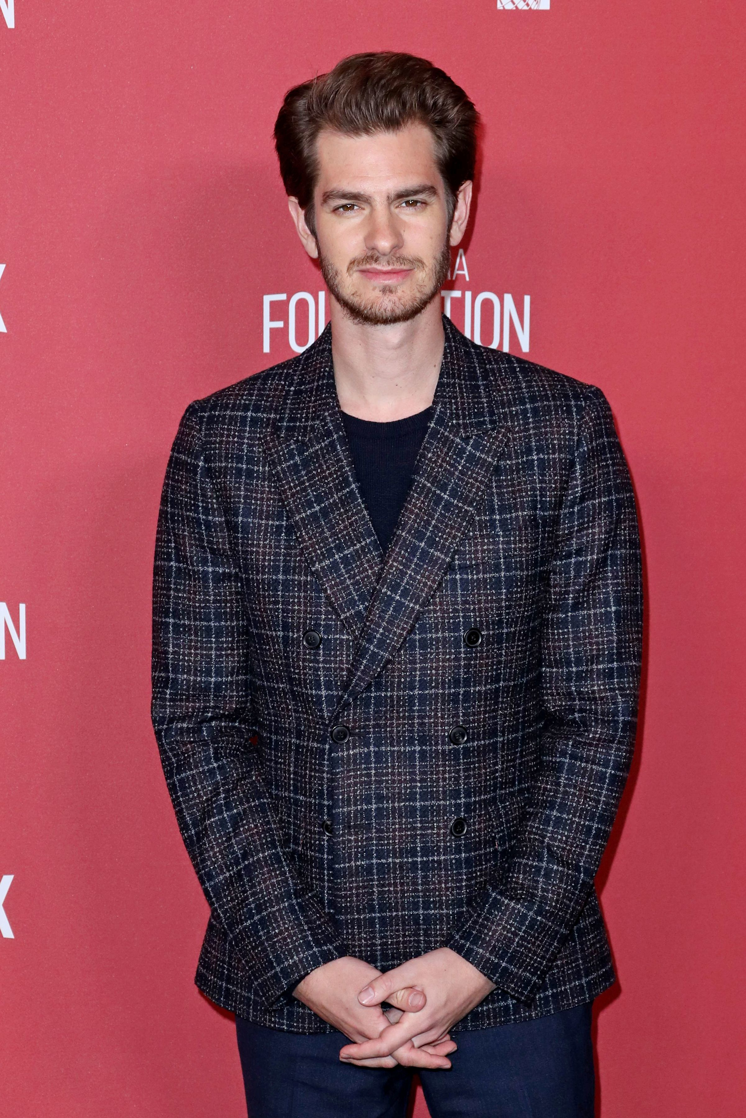 Andrew Garfield attends the SAG AFTRA Foundation Patron of the Artists Awards in Los Angeles on Nov. 9, 2017.