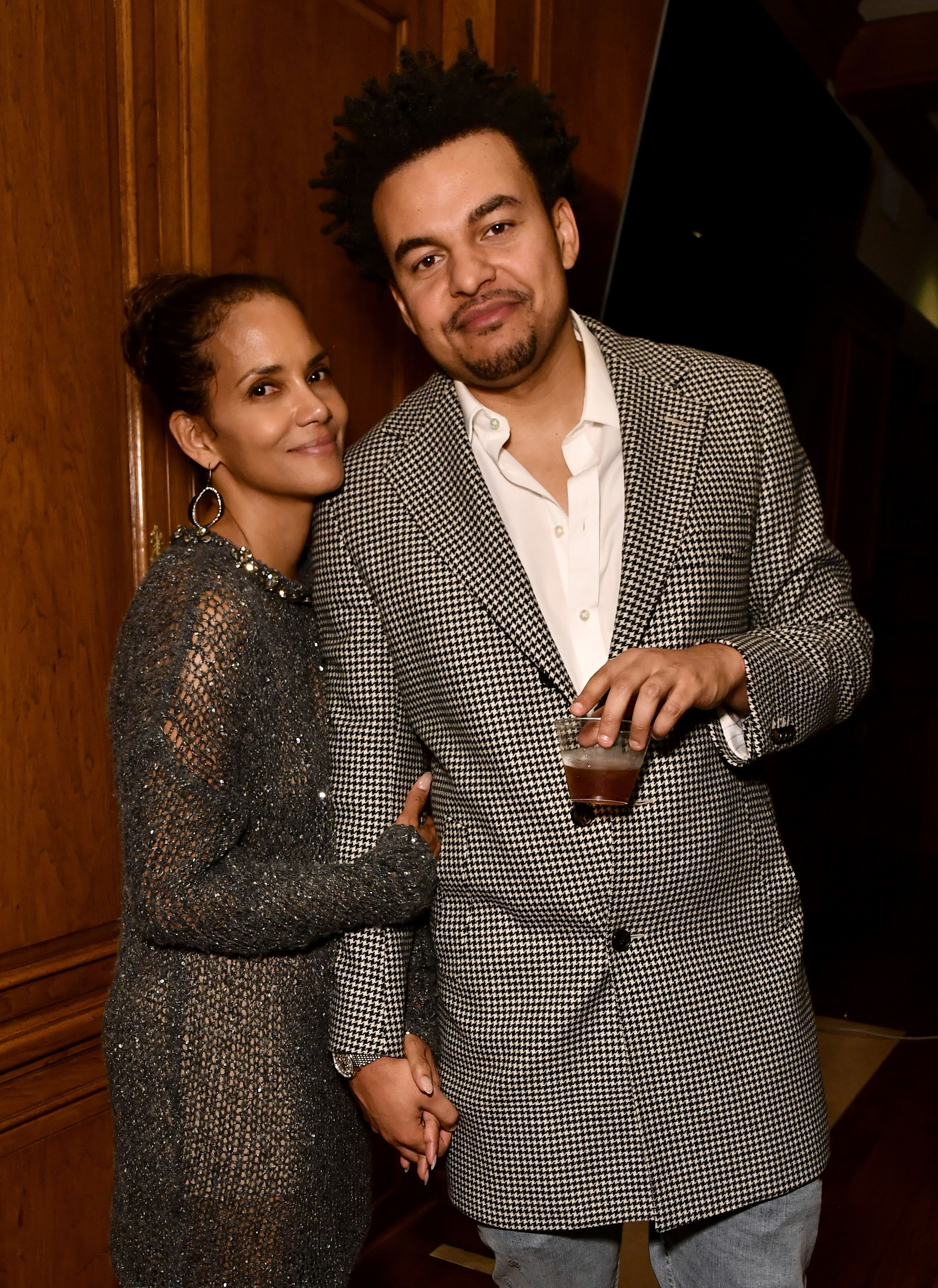 Halle Berry and Alex Da Kid attend the Songs of Hope Beverly and Ben Horowitz Legacy Award gala in Los Angeles on Sept. 28, 2017.