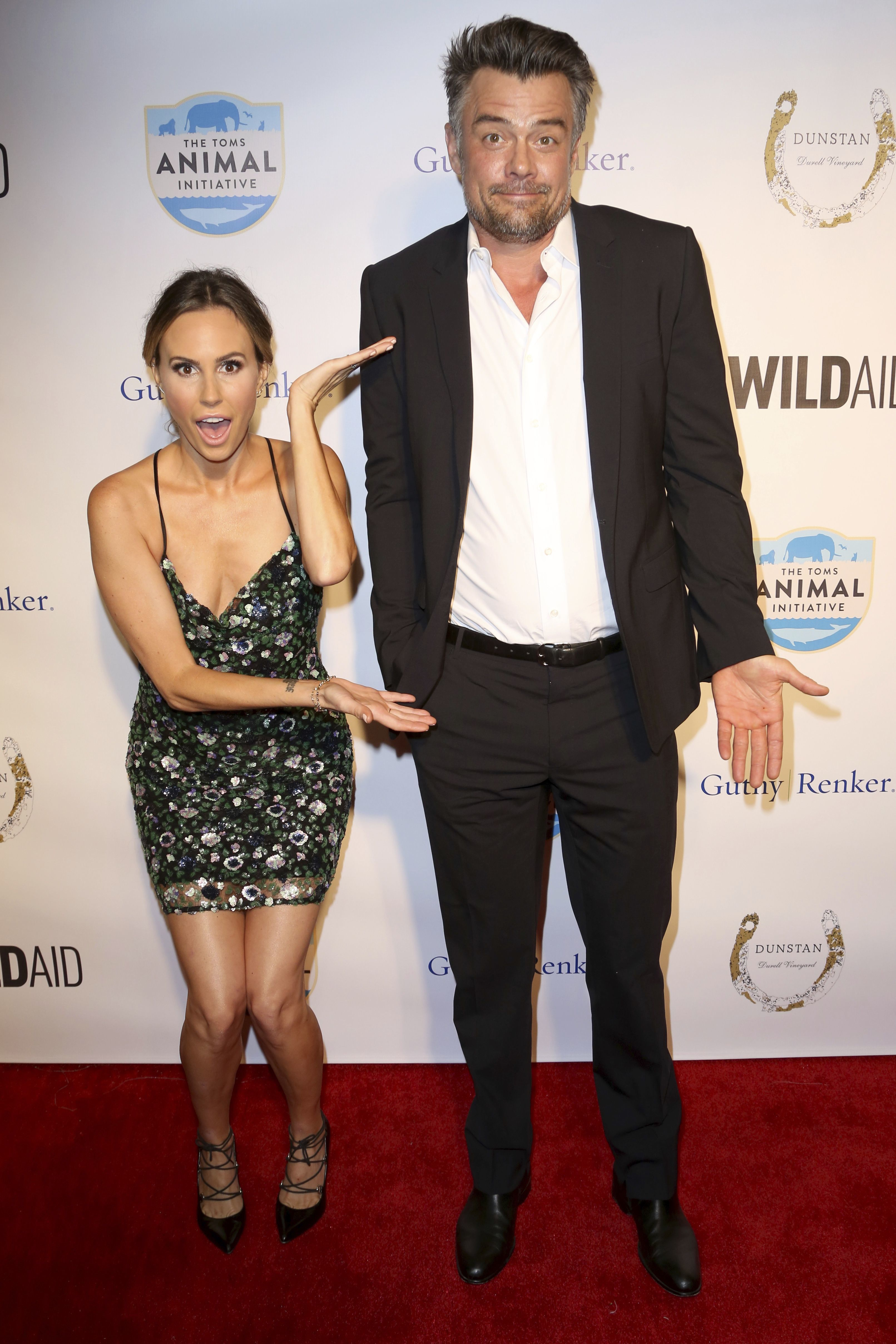 "Keltie Knight and Josh Duhamel arrive at the ""An Evening with WildAid"" event at The Beverly Wilshire in Beverly Hills, Calif., on Nov. 11, 2017."