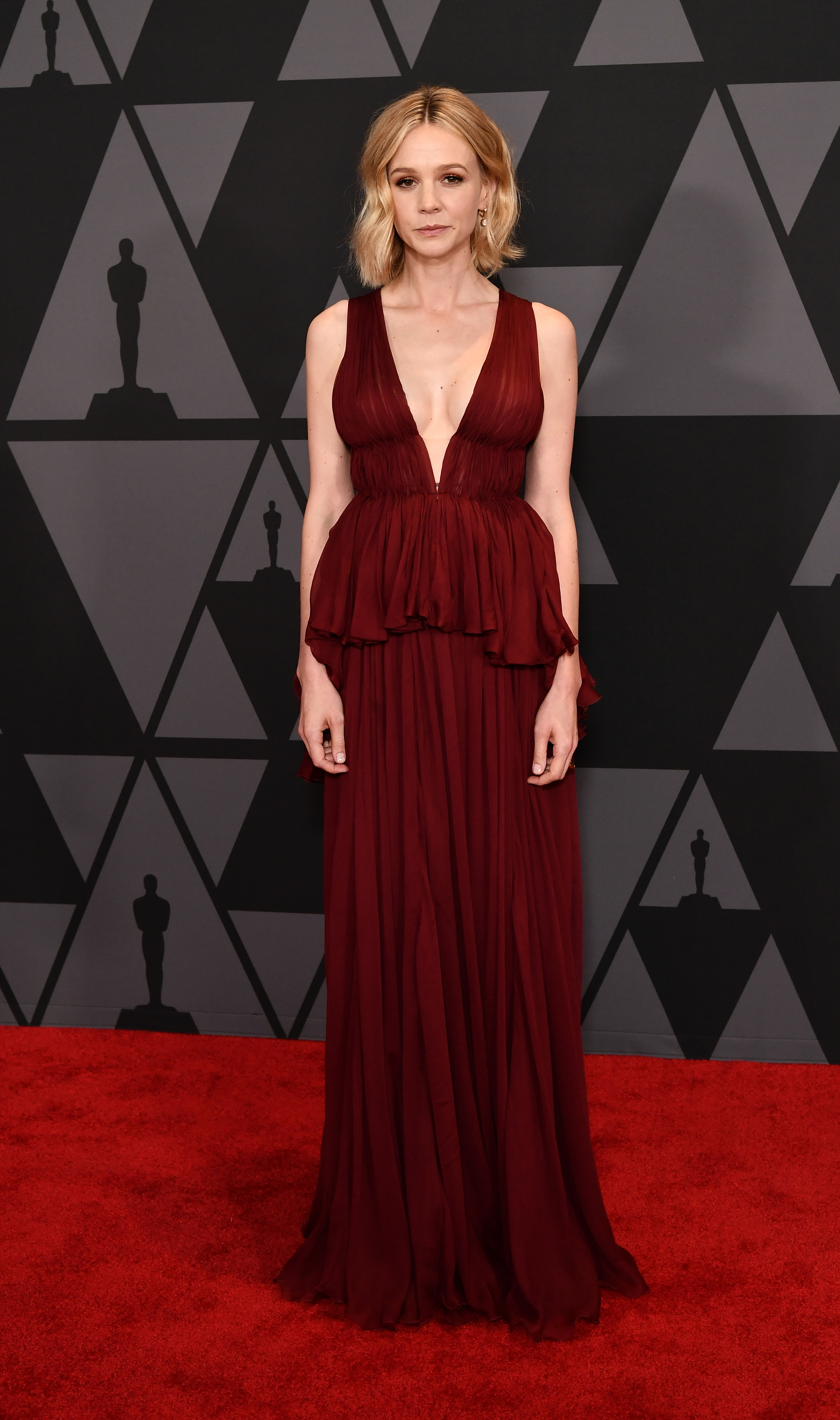 Carey Mulligan attends the 9th Annual AMPAS Governors Awards in Los Angeles on Nov. 11, 2017.