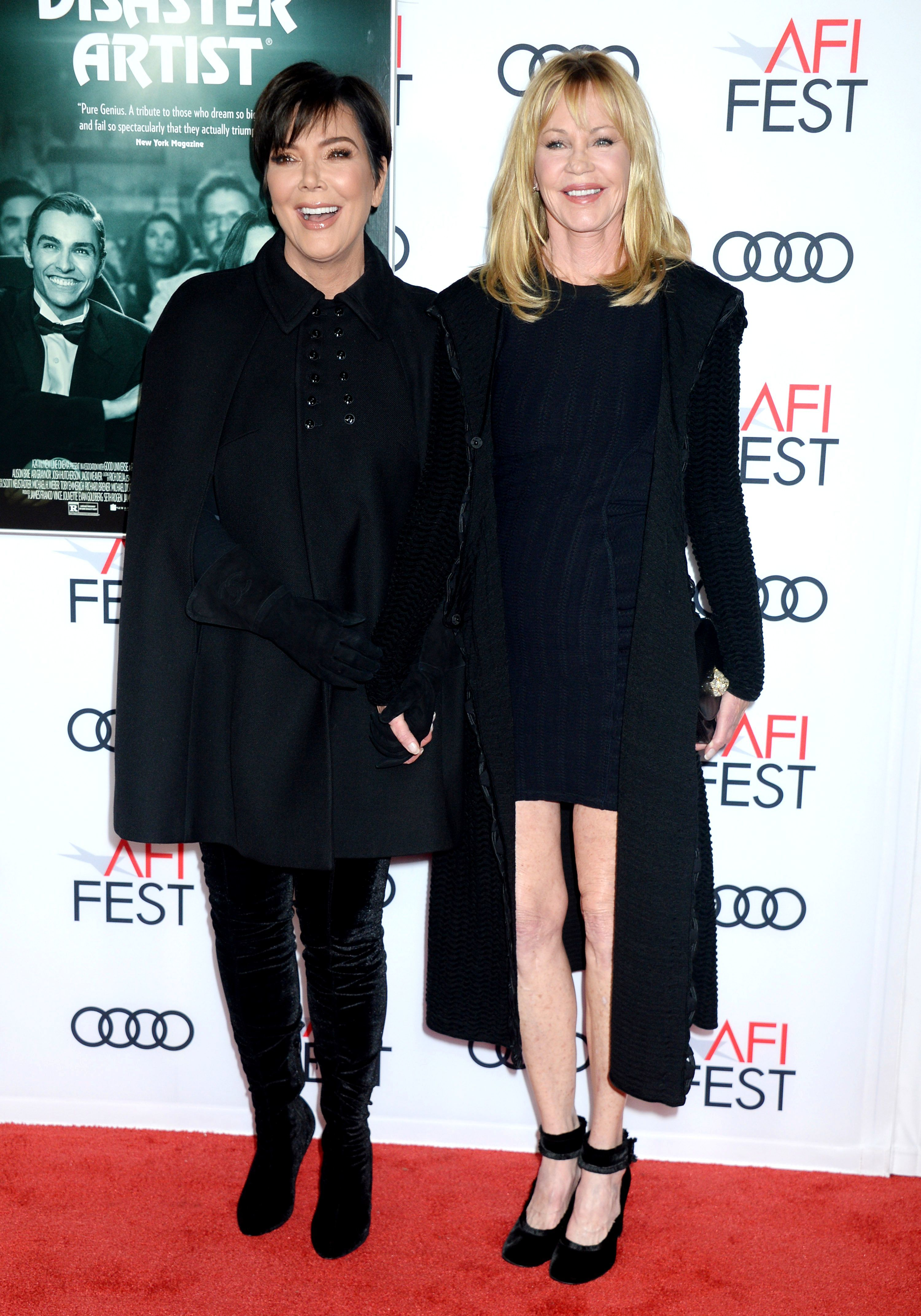 """Kris Jenner and Melanie Griffith attend """"The Disaster Artist"""" Centerpiece Gala at the AFI Fest in Los Angeles on Nov. 12, 2017.  AFI FEST 2017   THE DISASTER ARTIST Centerpiece Gala"""