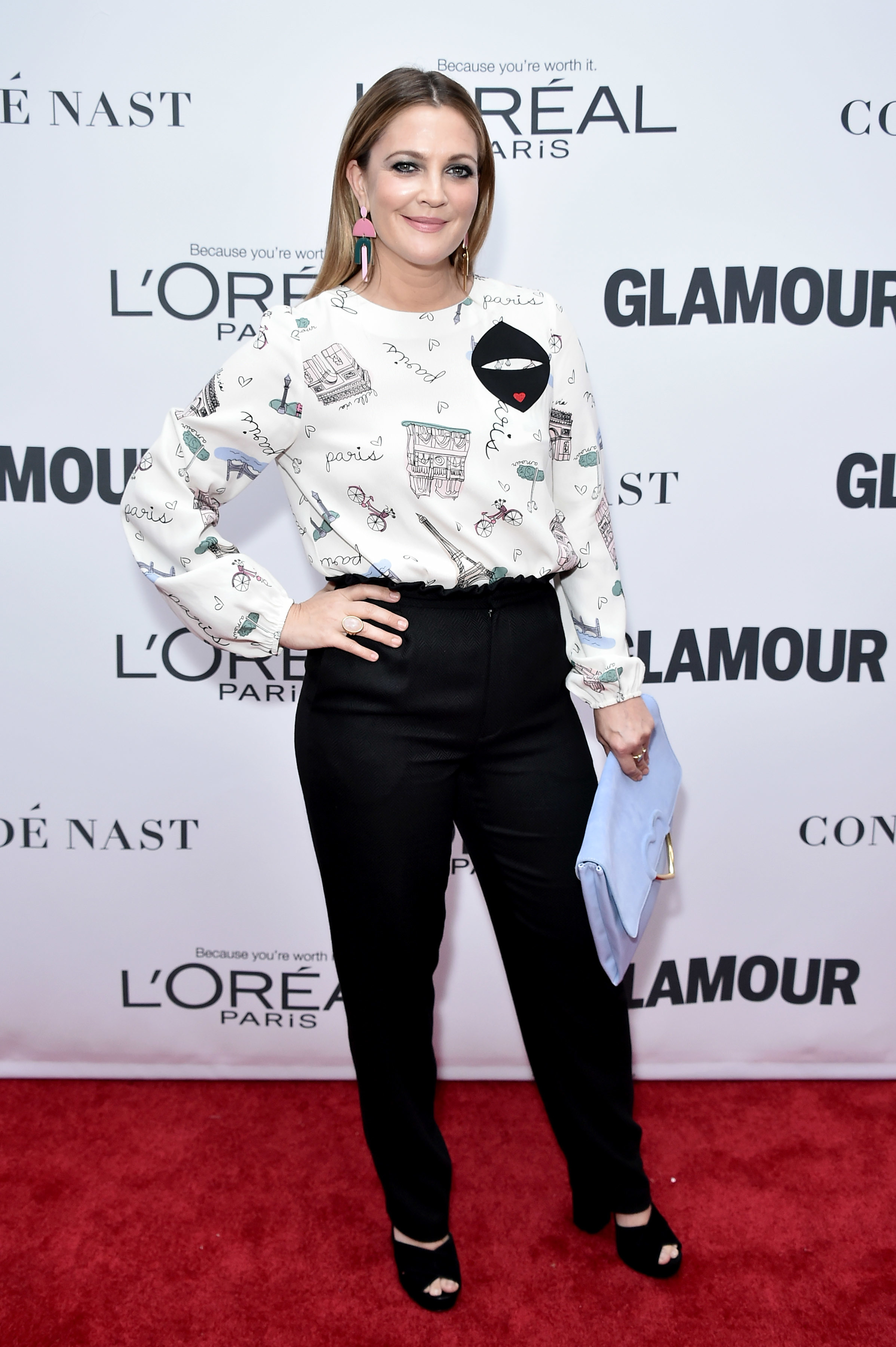Drew Barrymore attends the Glamour Women of the Year Awards in New York City on Nov. 13, 2017.